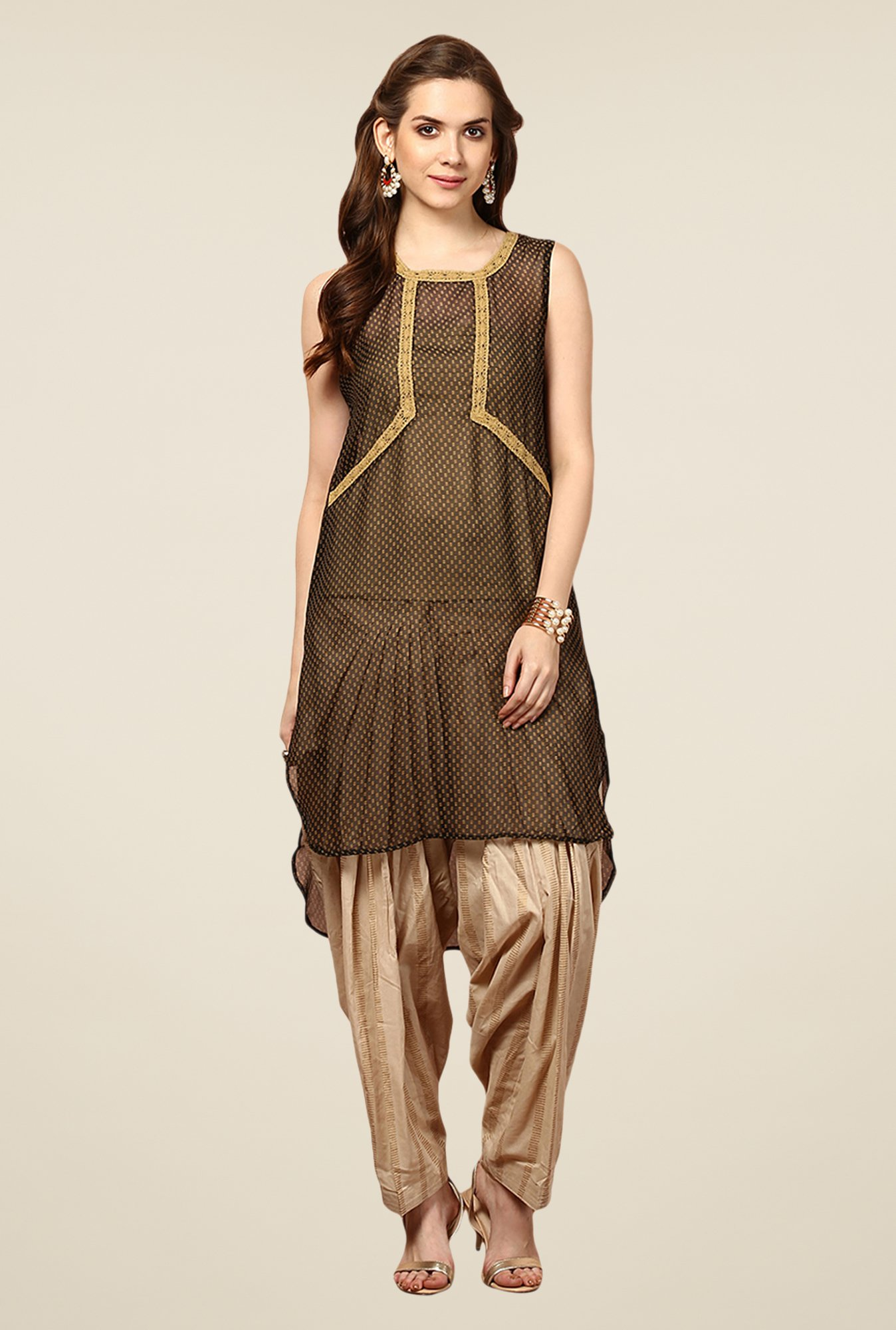 Yepme Brown Alison Asymmetrical Kurti