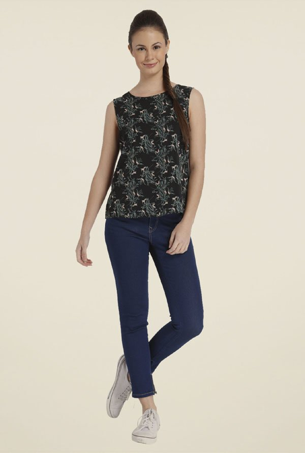 Only Black Printed Polyester Top