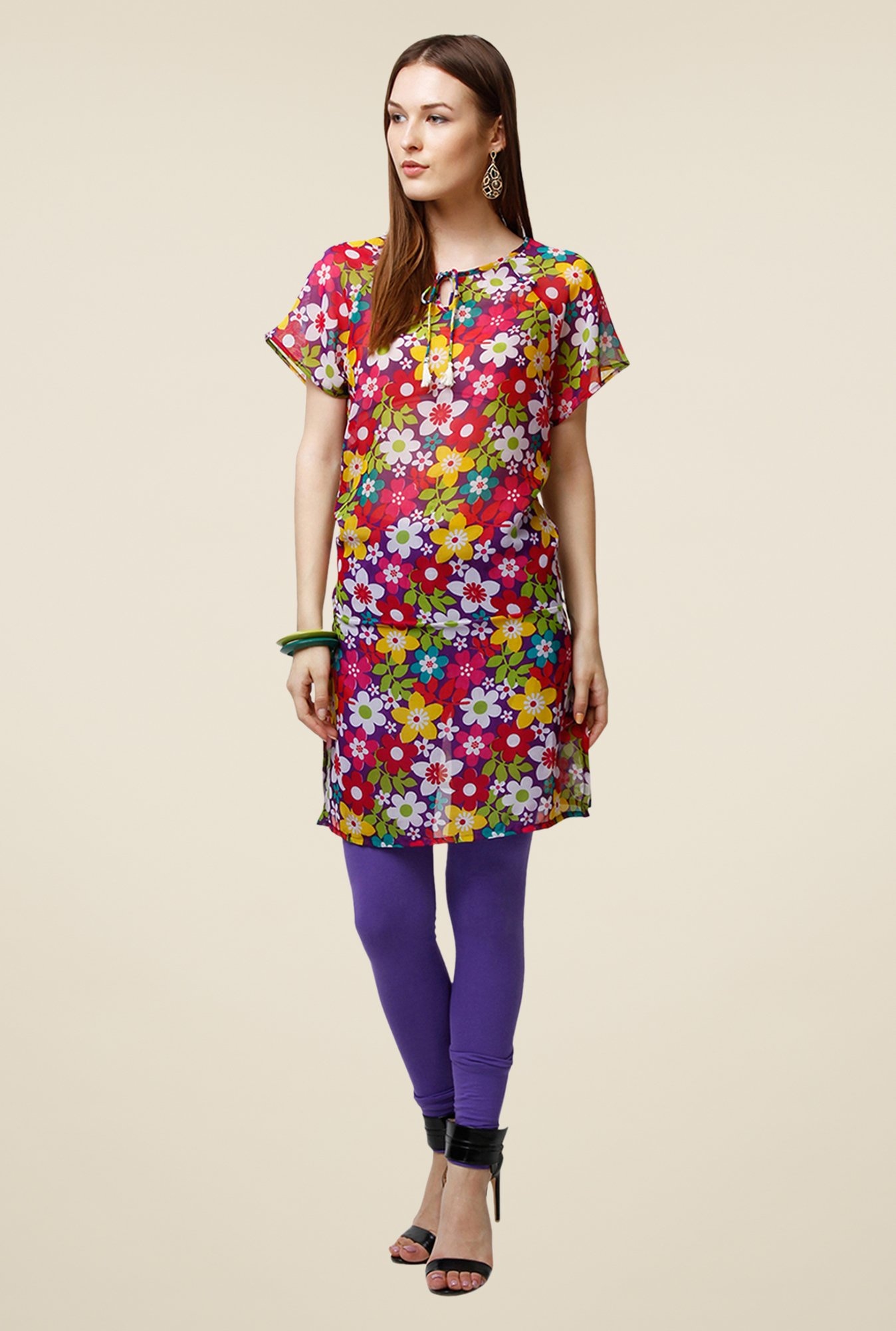 Yepme Multicolor Kendell Tie-Up Kurti