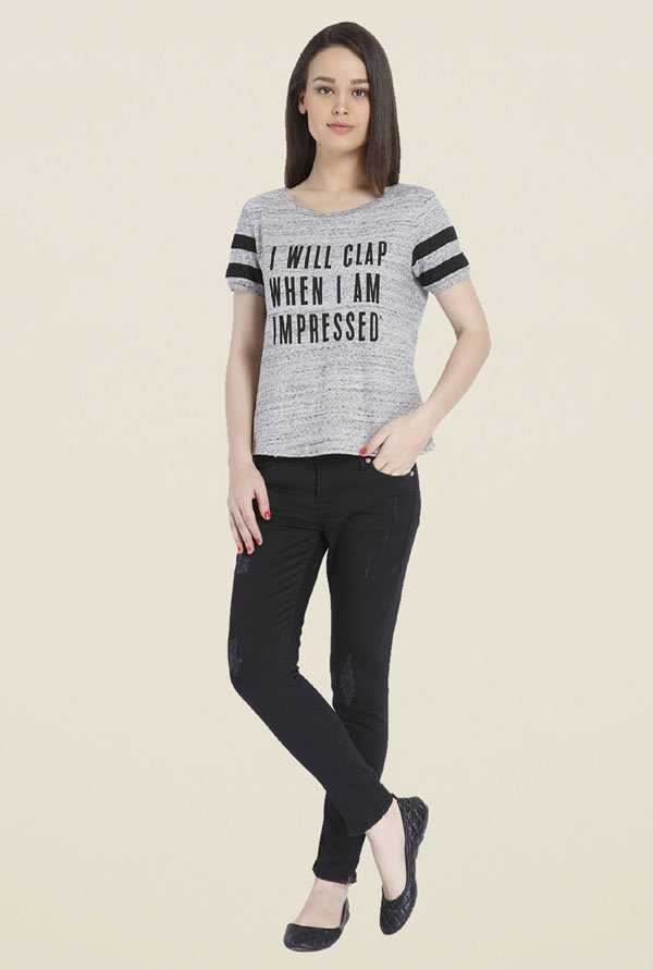 Only Grey Graphic T-shirt