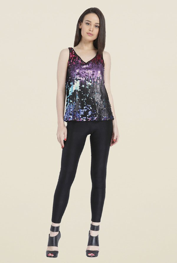 Only Multicolor Embellished Top