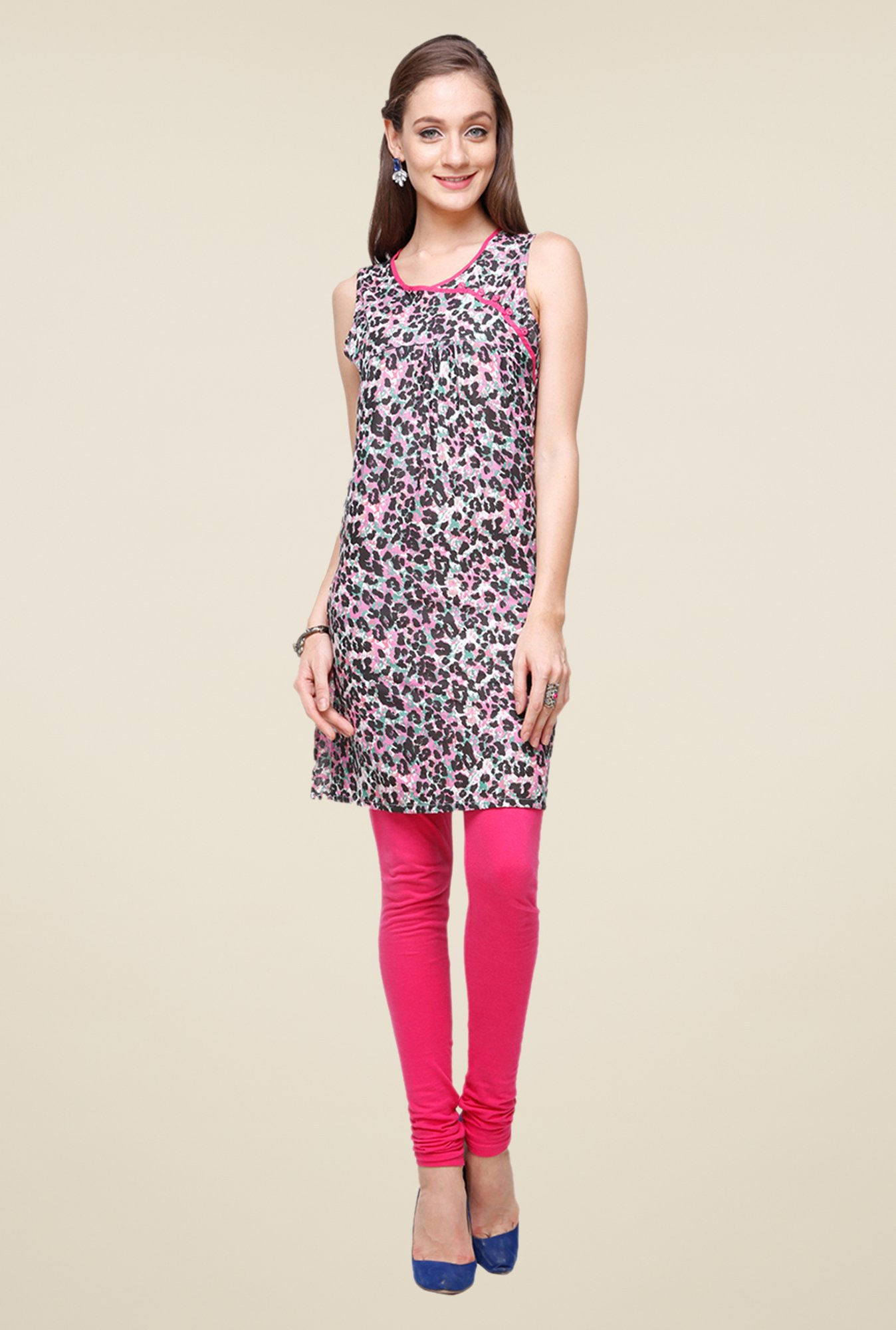 Yepme Multicolor Roxanne Animal Print Kurti