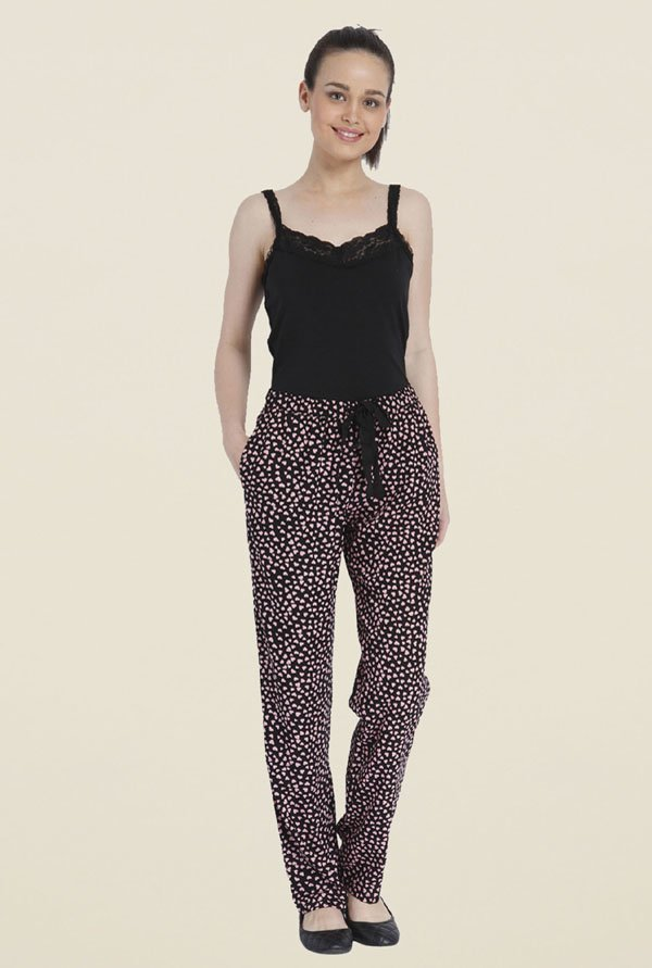 Only Black Heart Print Trackpants