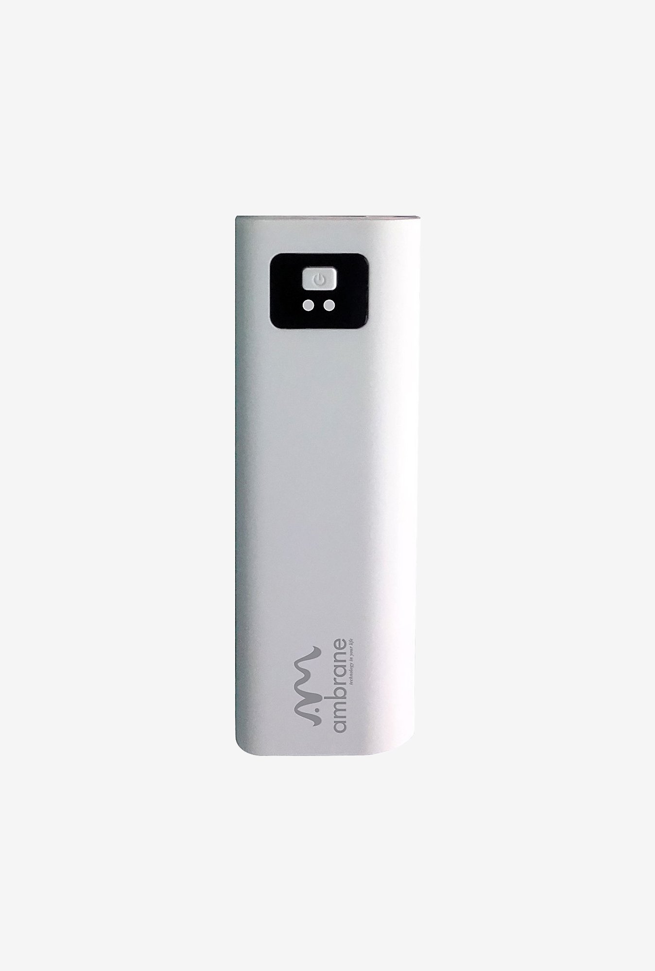 Ambrane P-202 2200 mAh Power Bank (White)