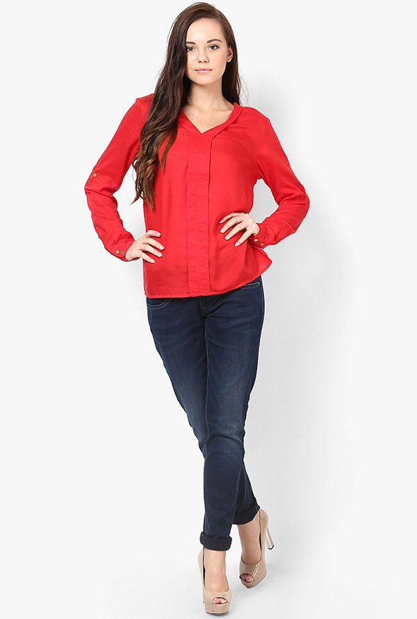 Only Red Solid Top