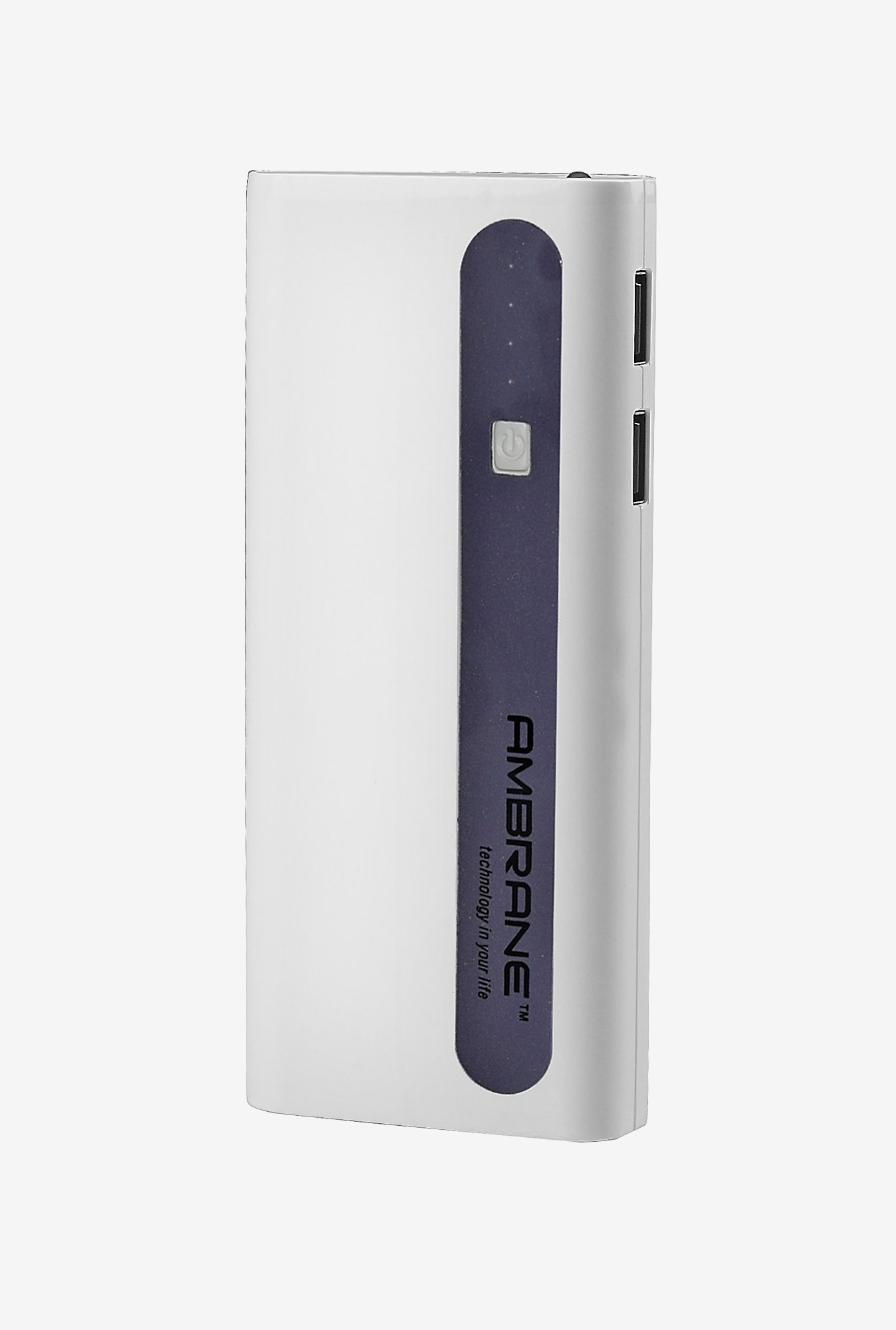 Ambrane P-1310 13000 mAh Power Bank (White & Purple)