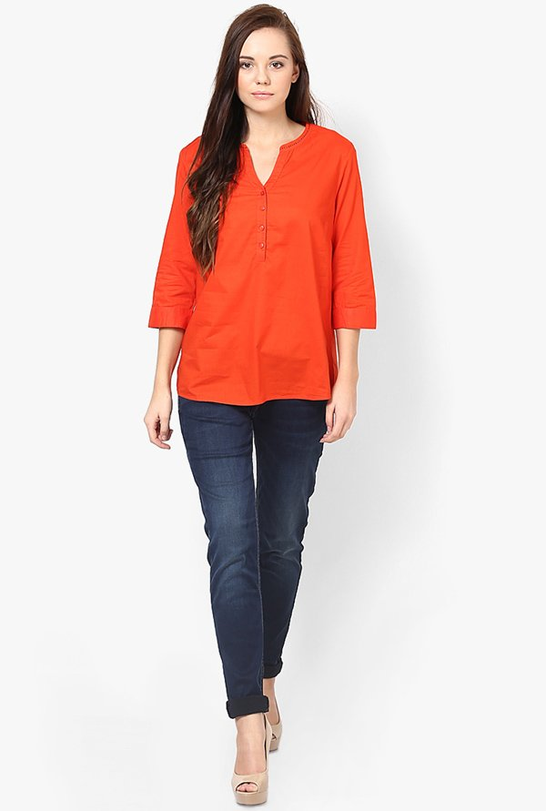 Only Orange Solid Top