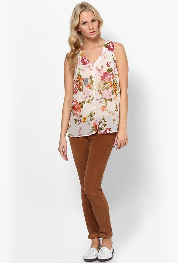 Only Multicolor Floral Print Top