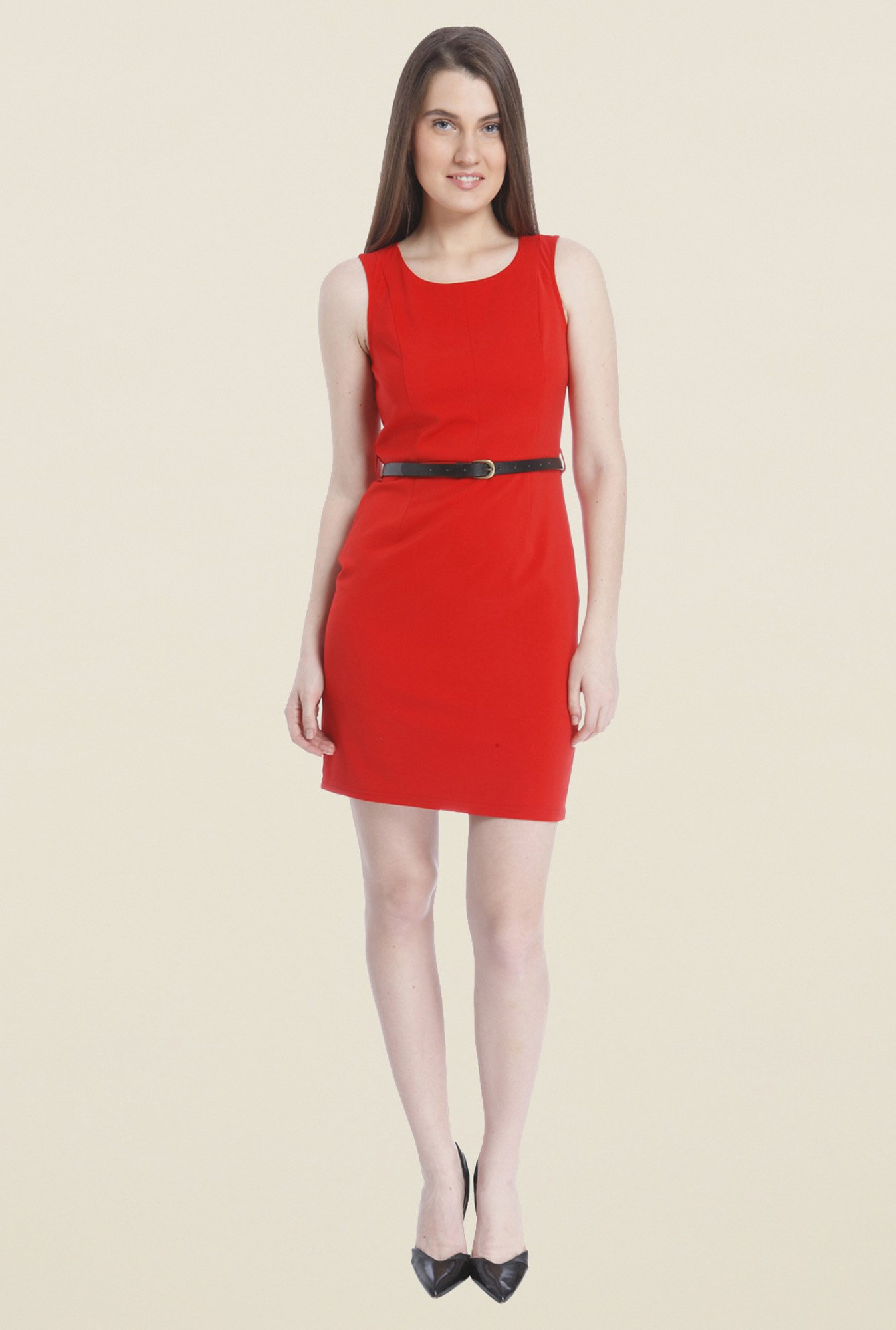 Vero Moda Red A-Line Dress