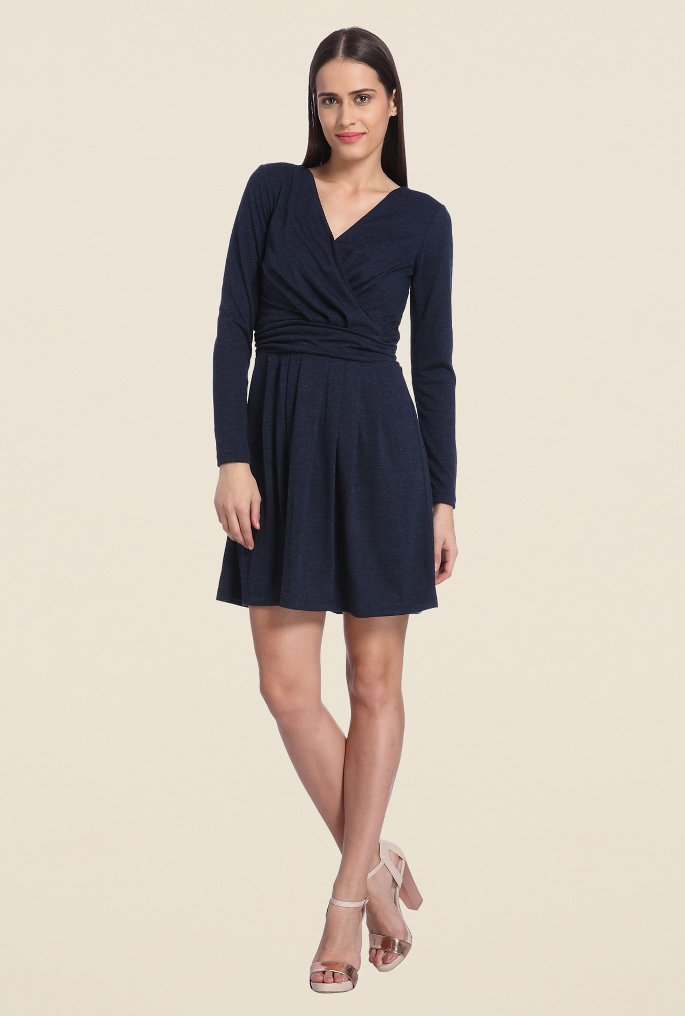 Vero Moda Navy Skater Dress