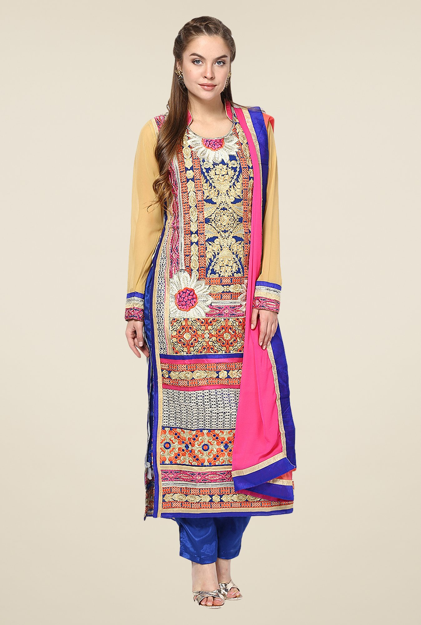 Yepme Raakel Blue Unstitched Suit Set