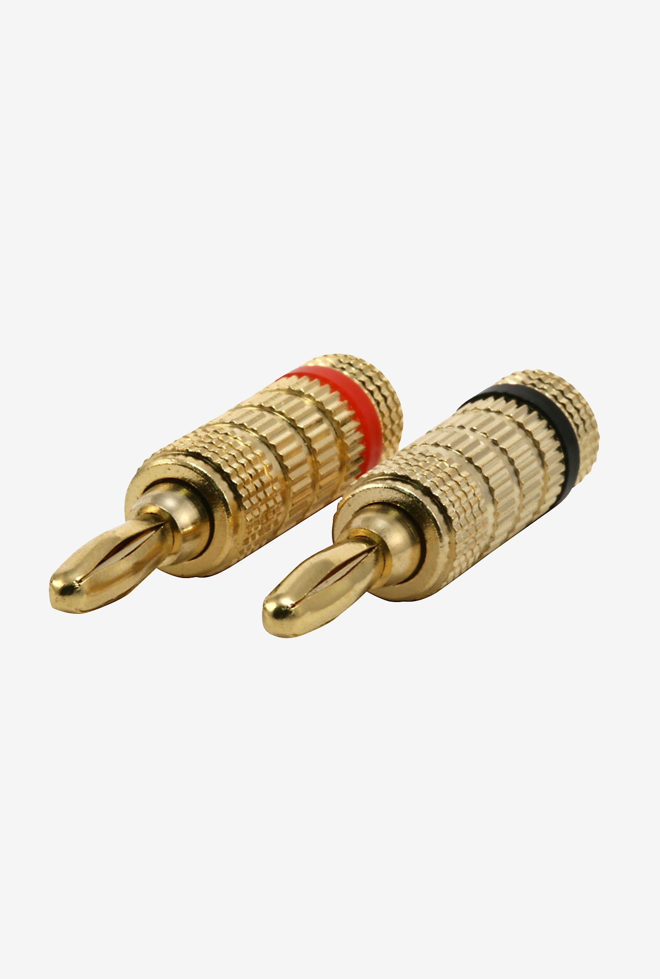 Monoprice 102801 Pair of Copper Speaker Banana Plugs (Gold)