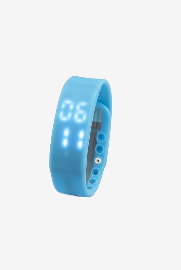 Blansdi Healthy Bracelet Wristband Watch Pedometer (Blue)