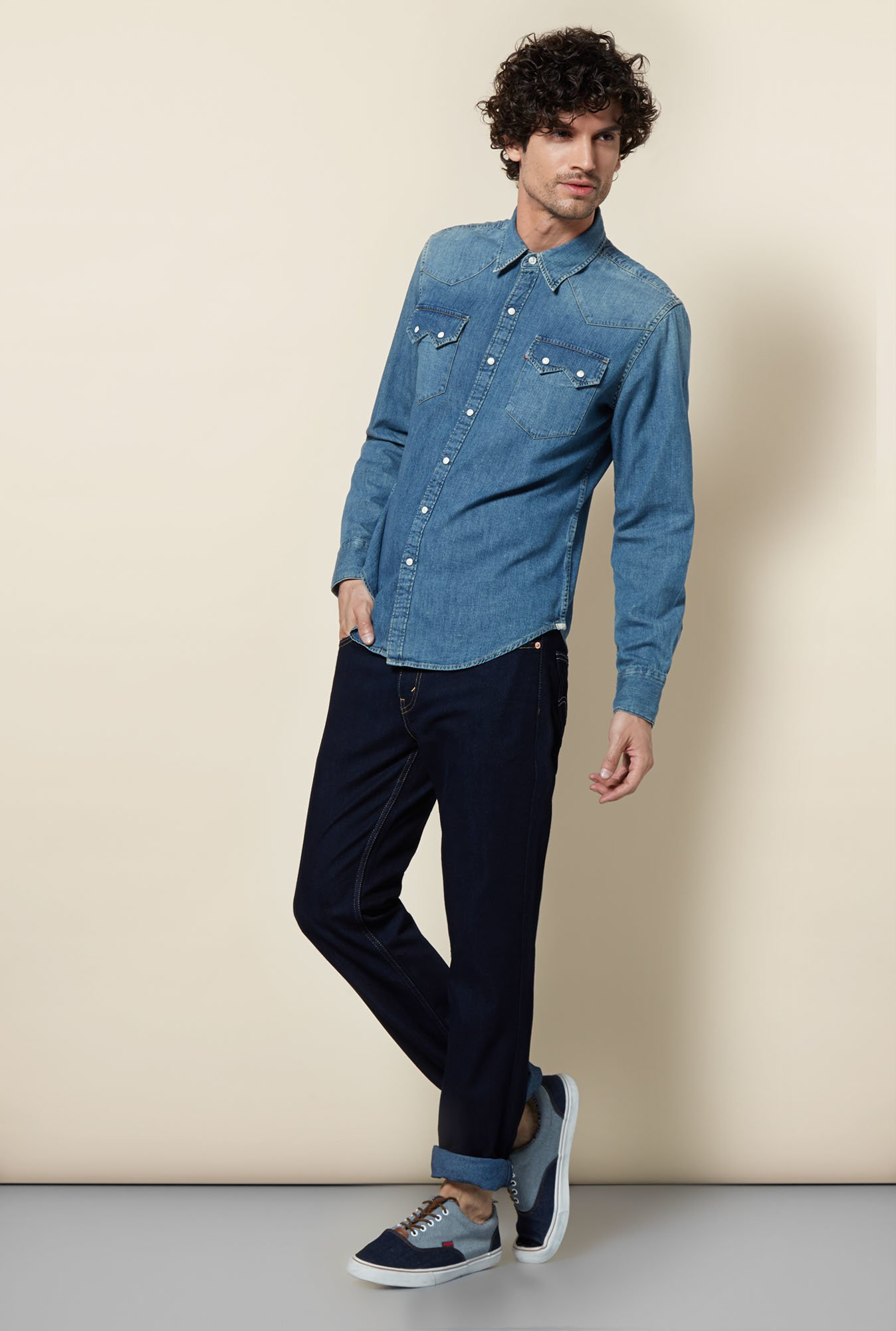 Levi's Blue Chambray Shirt