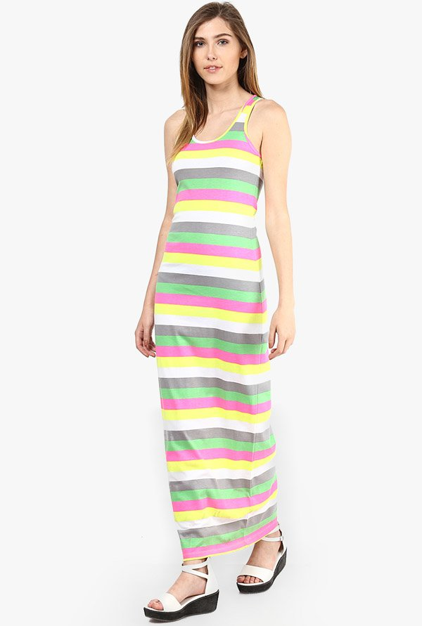 Only Multicolor Striped Dress