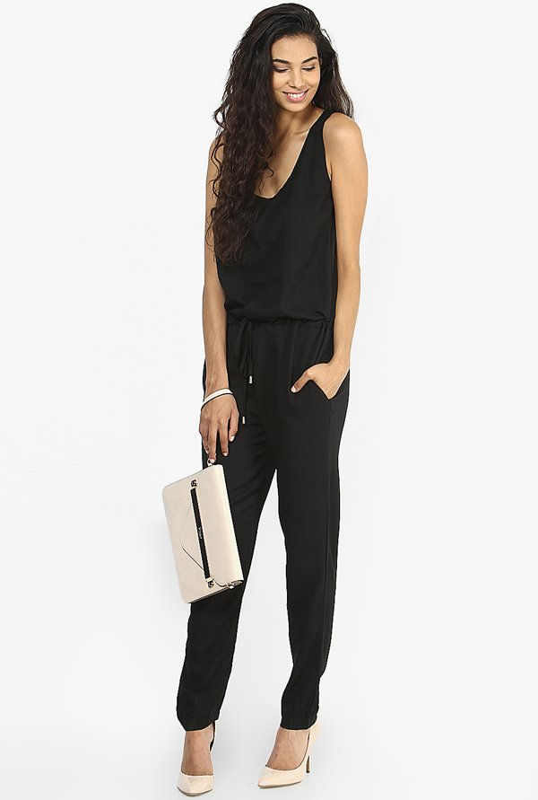 Only Black Solid Jumpsuit