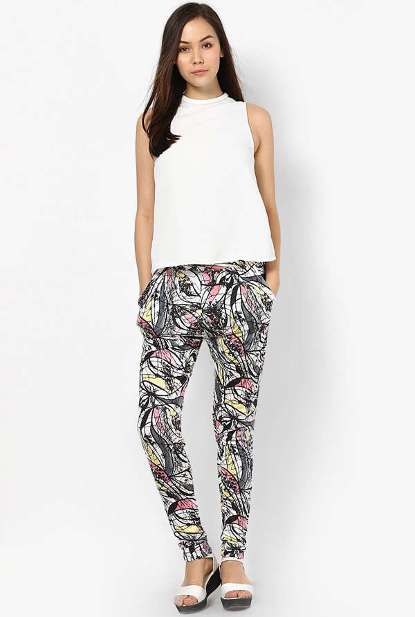 Only Multicolor Printed Jeggings