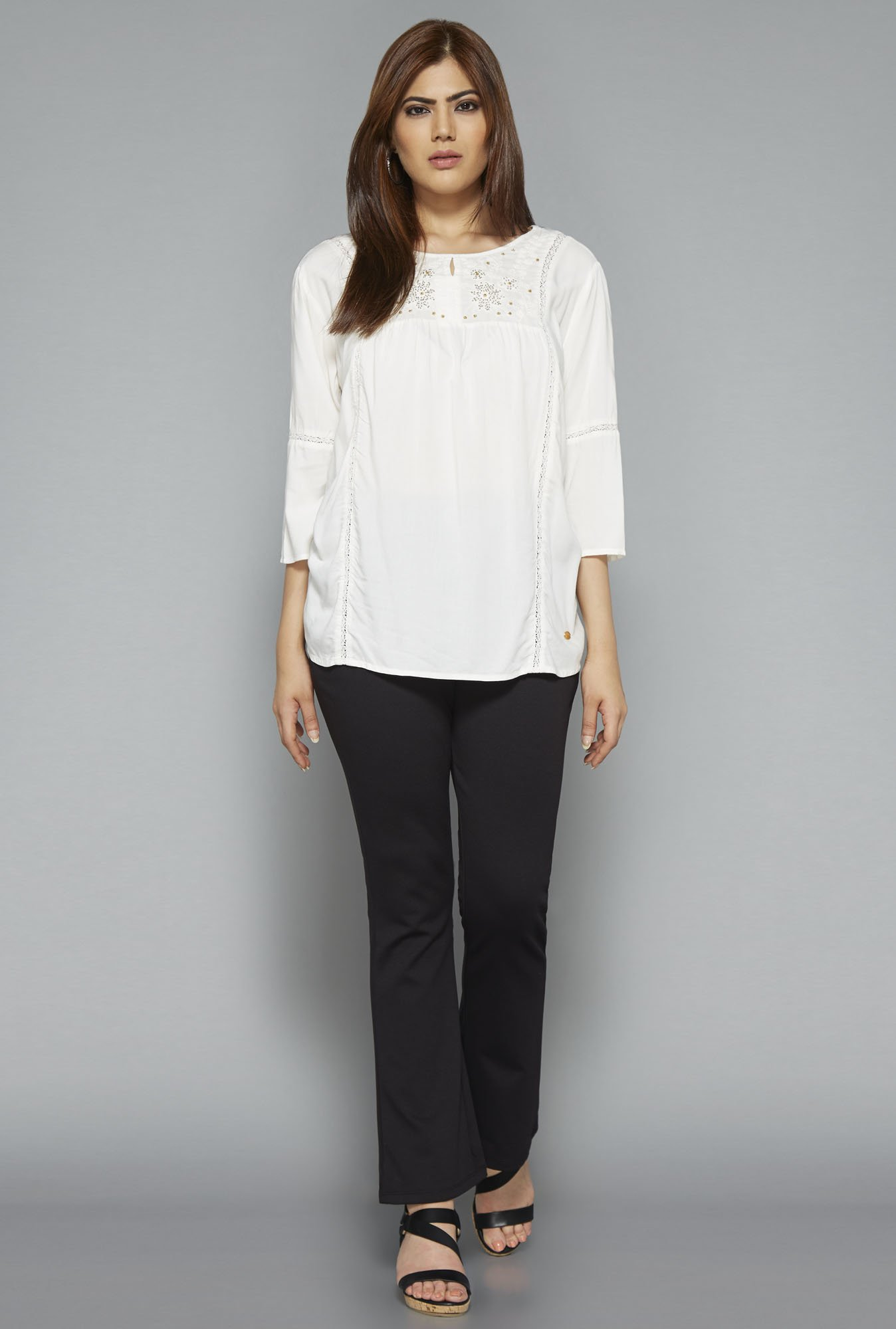 Gia by Westside Off White Ella Blouse
