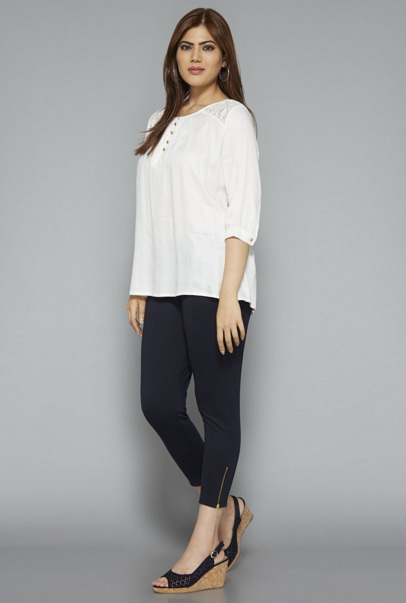 Gia by Westside Off White Zen Blouse