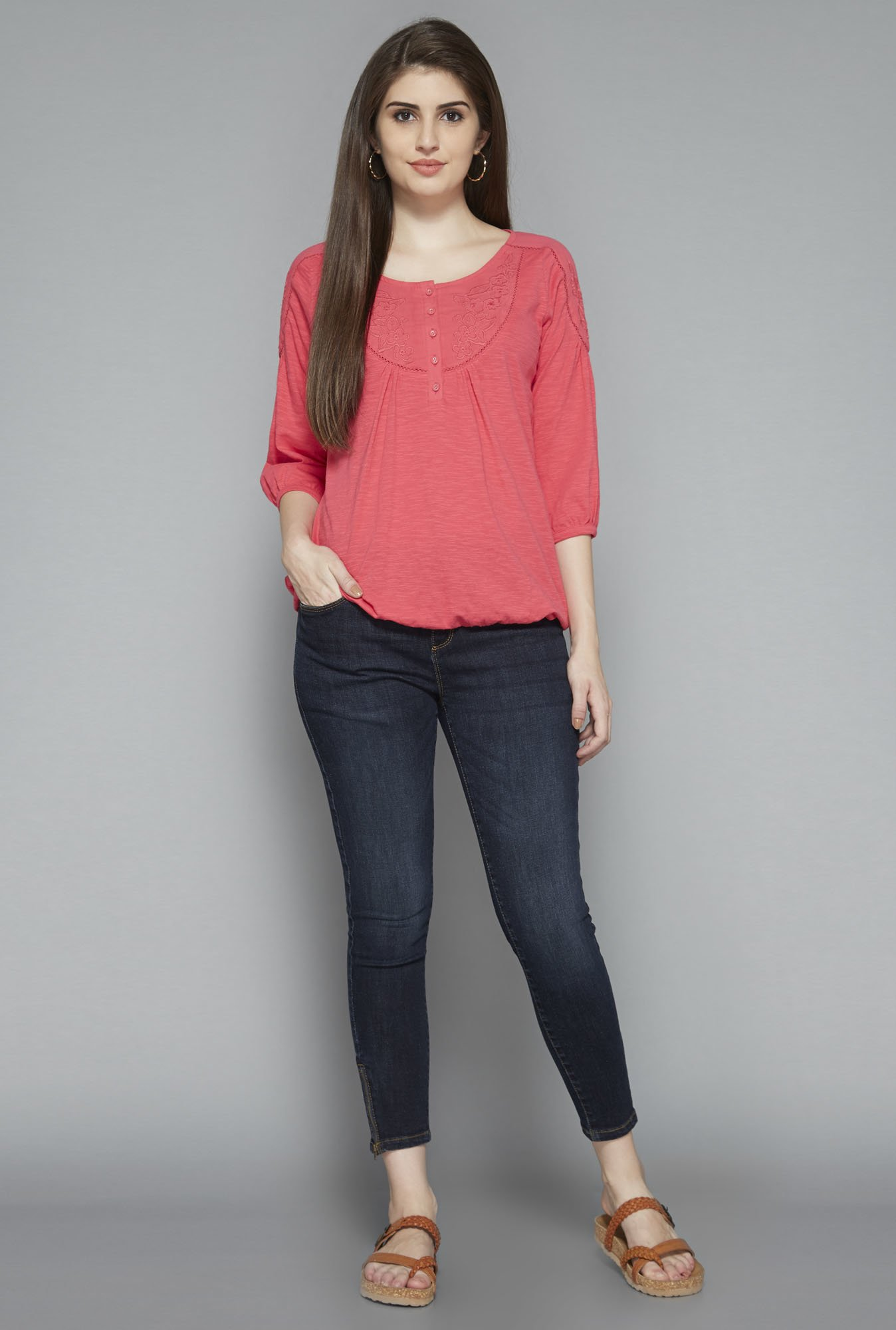 LOV by Westside Coral Dora Top