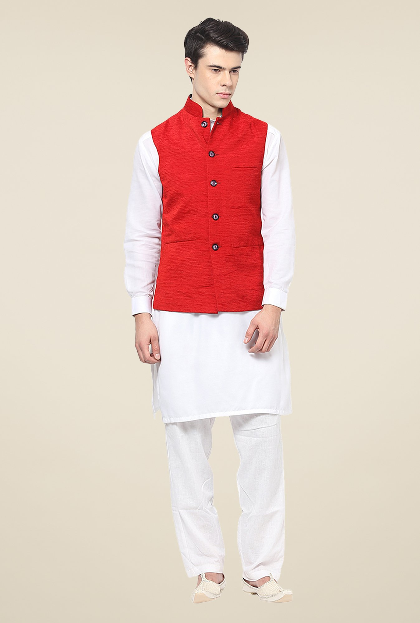 Yepme Red Bert Nehru Jacket