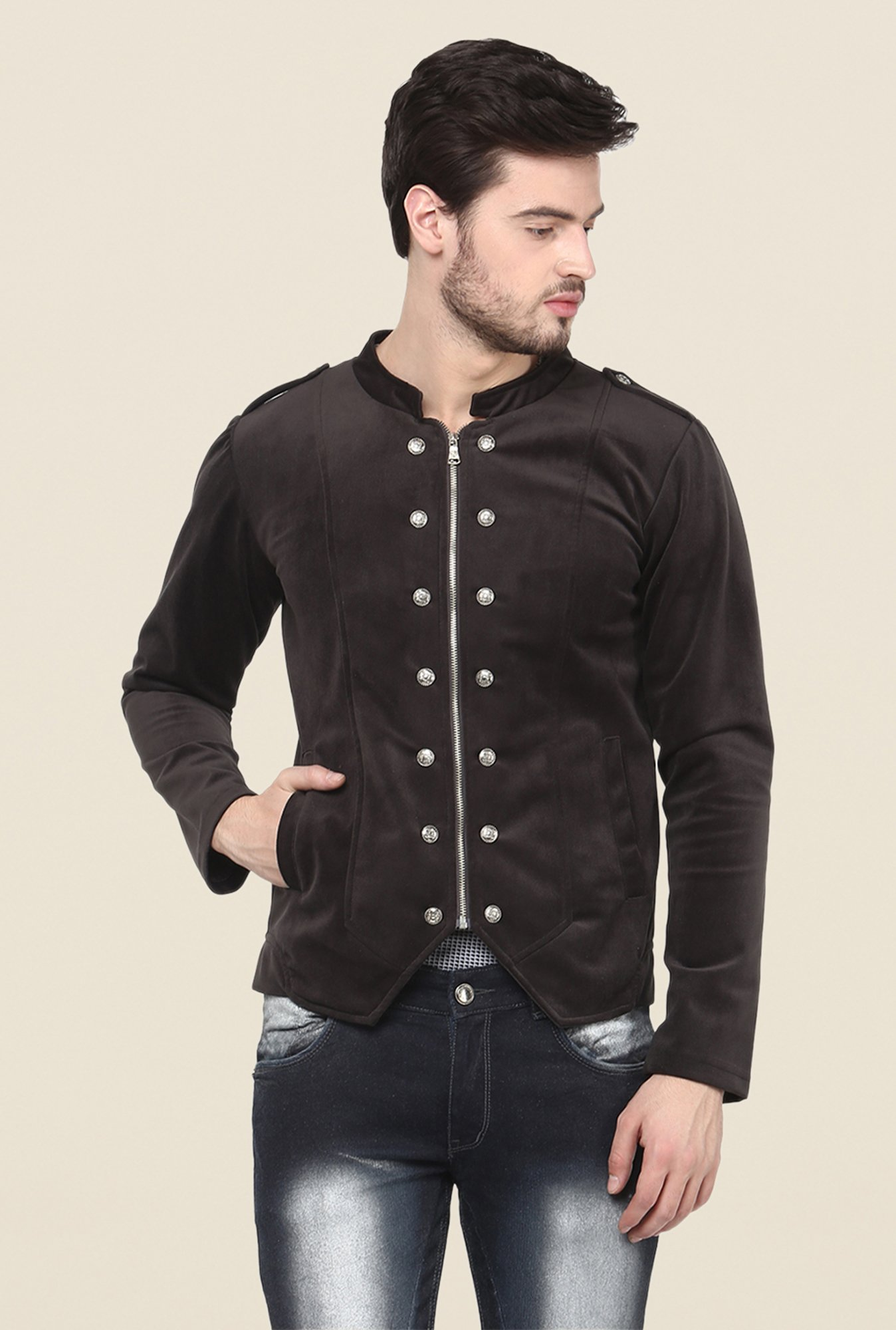 Yepme Brown Siddle Party Jacket