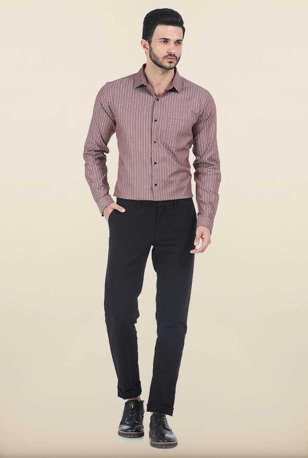 Basics Mustang Stripe Dobby Slim Fit Shirt