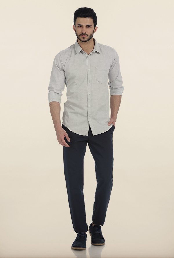 Basics Dove Melange Giza Slim Fit Shirt