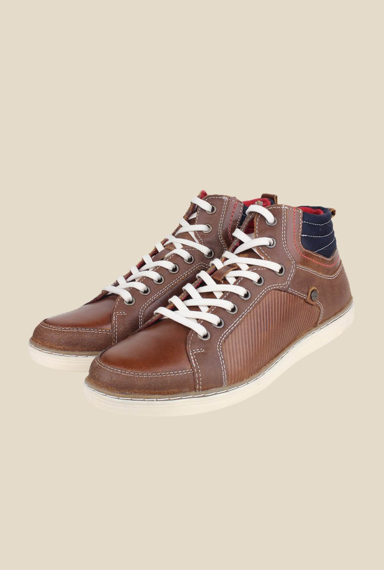 Red Tape Brown Sneakers