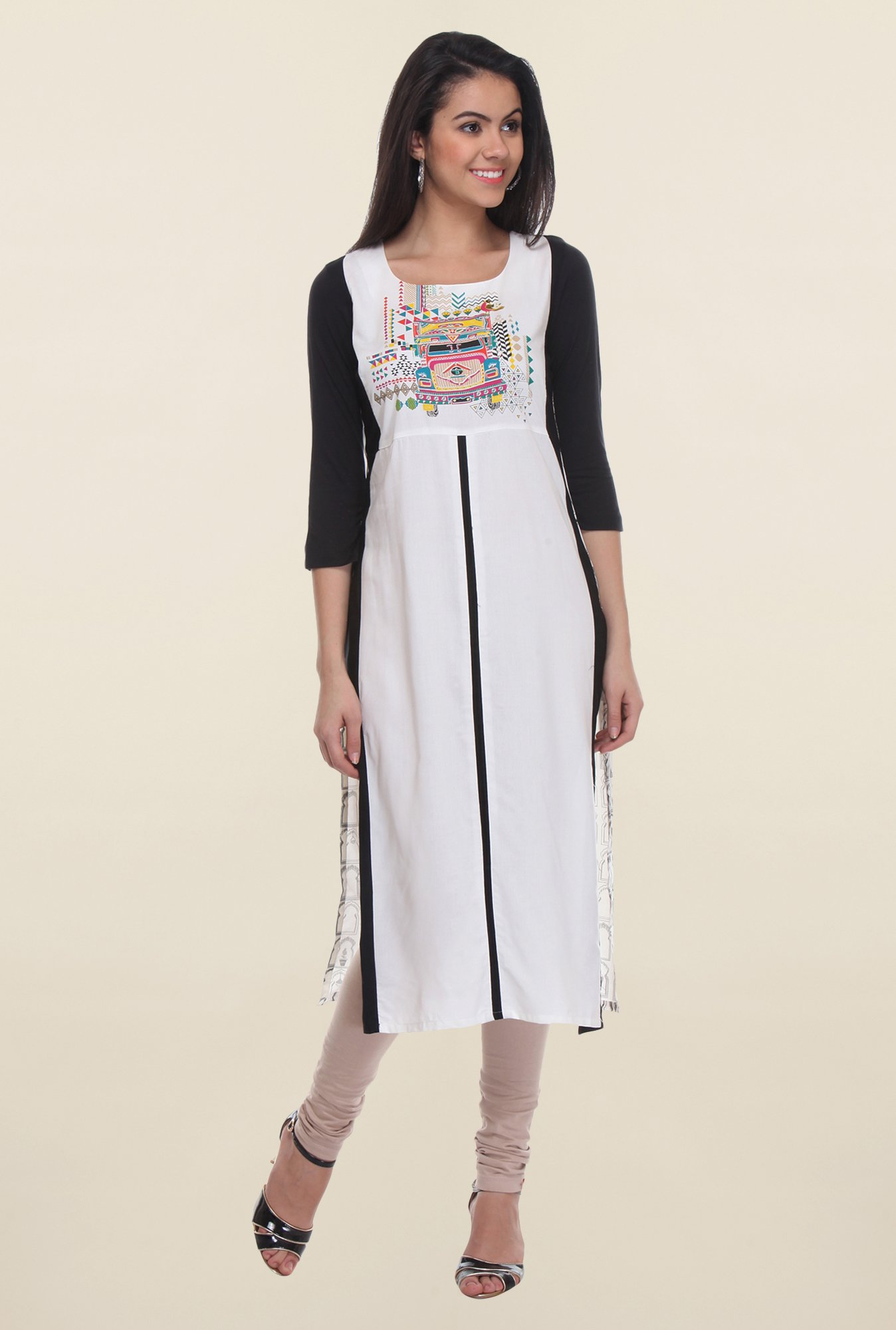 W White Embroidered Kurta