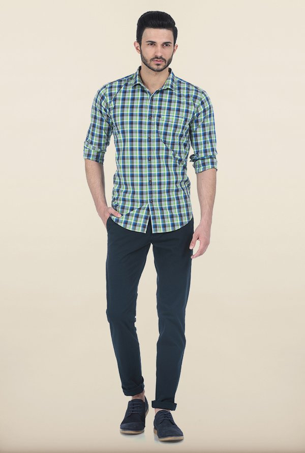 Basics Kiwi Checked Slim Fit Shirt