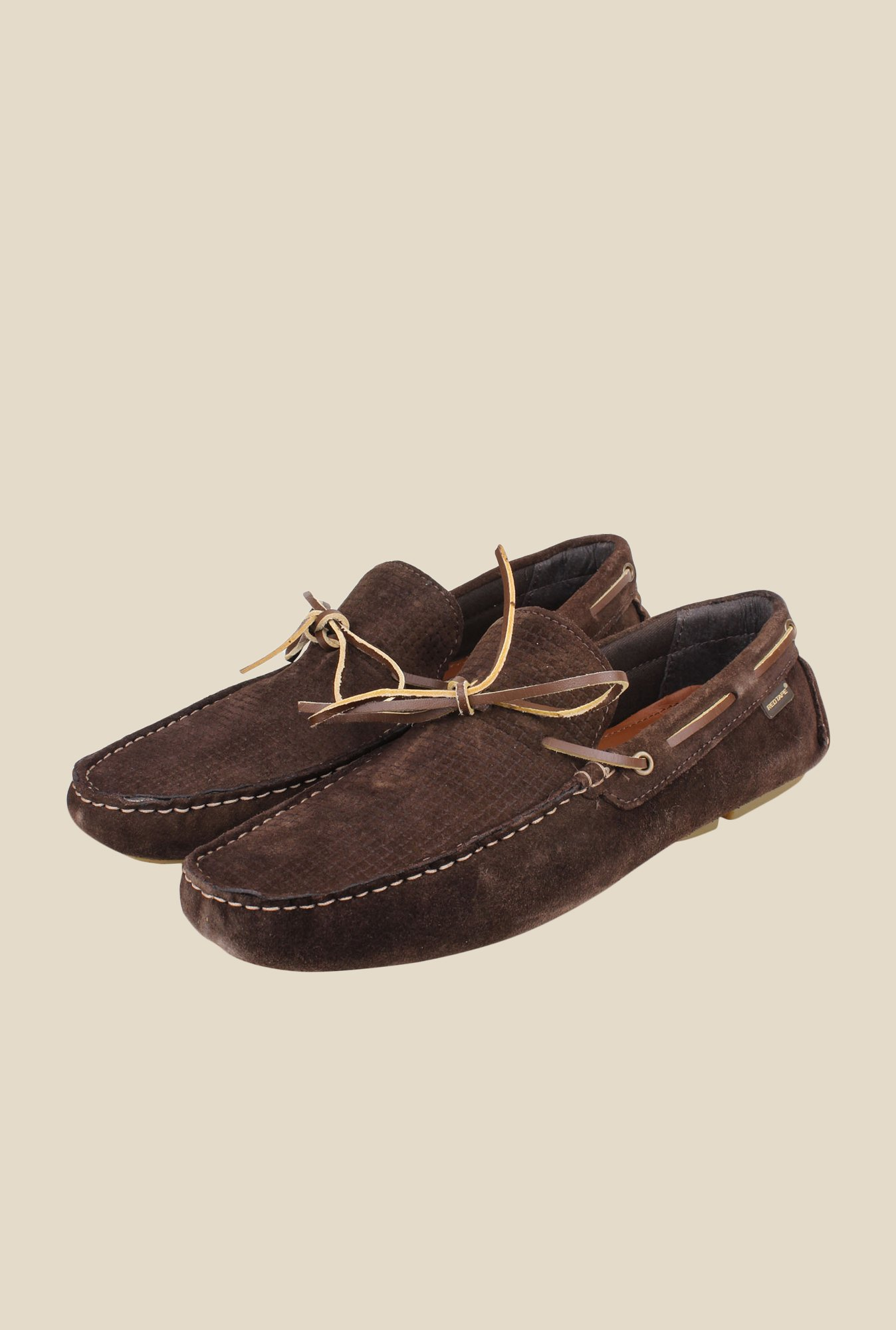 Red Tape Brown Boat Shoes