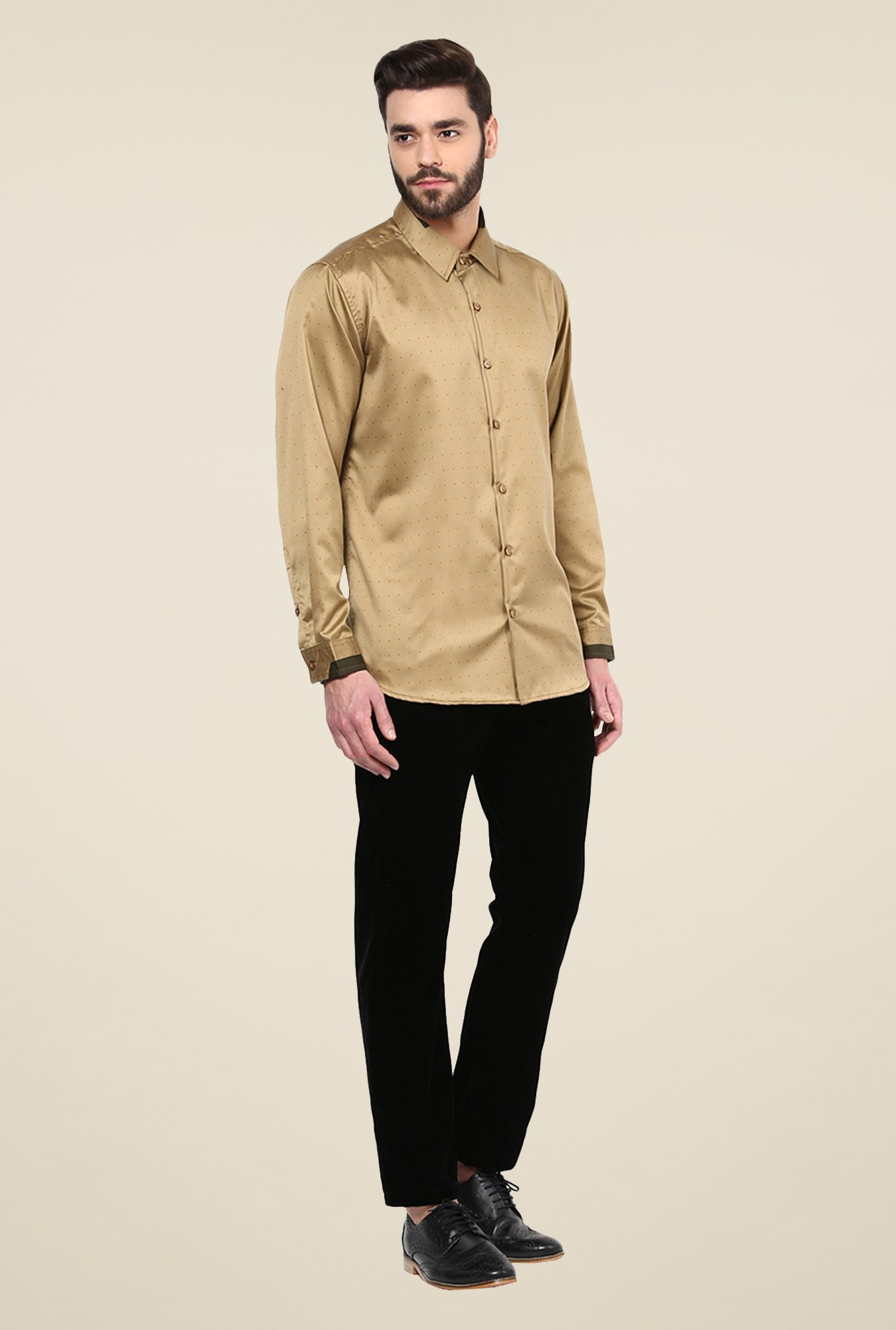 Yepme Brown Bert Printed Party Shirt