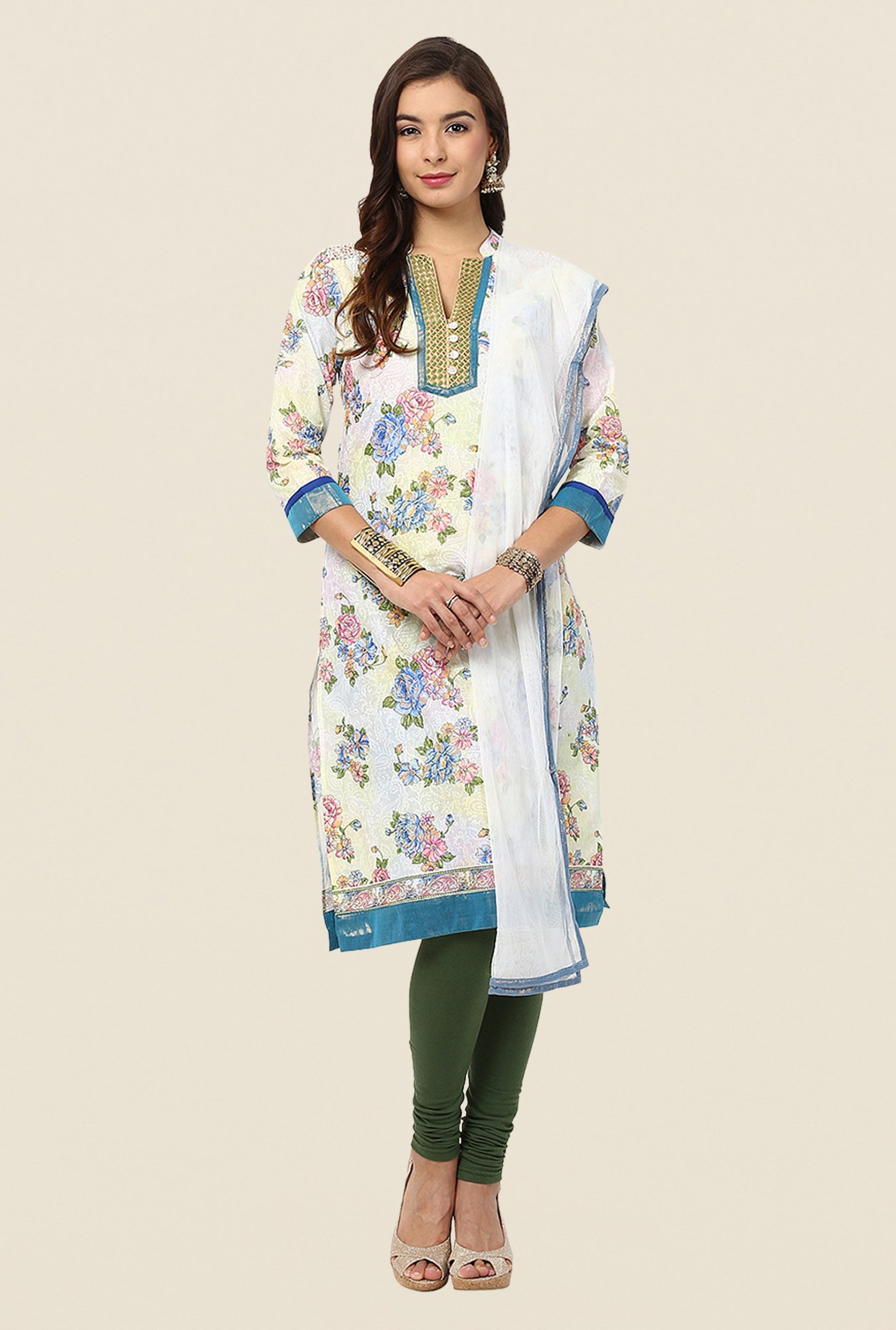 Yepme Off-white Tany Salwar Kameez Set