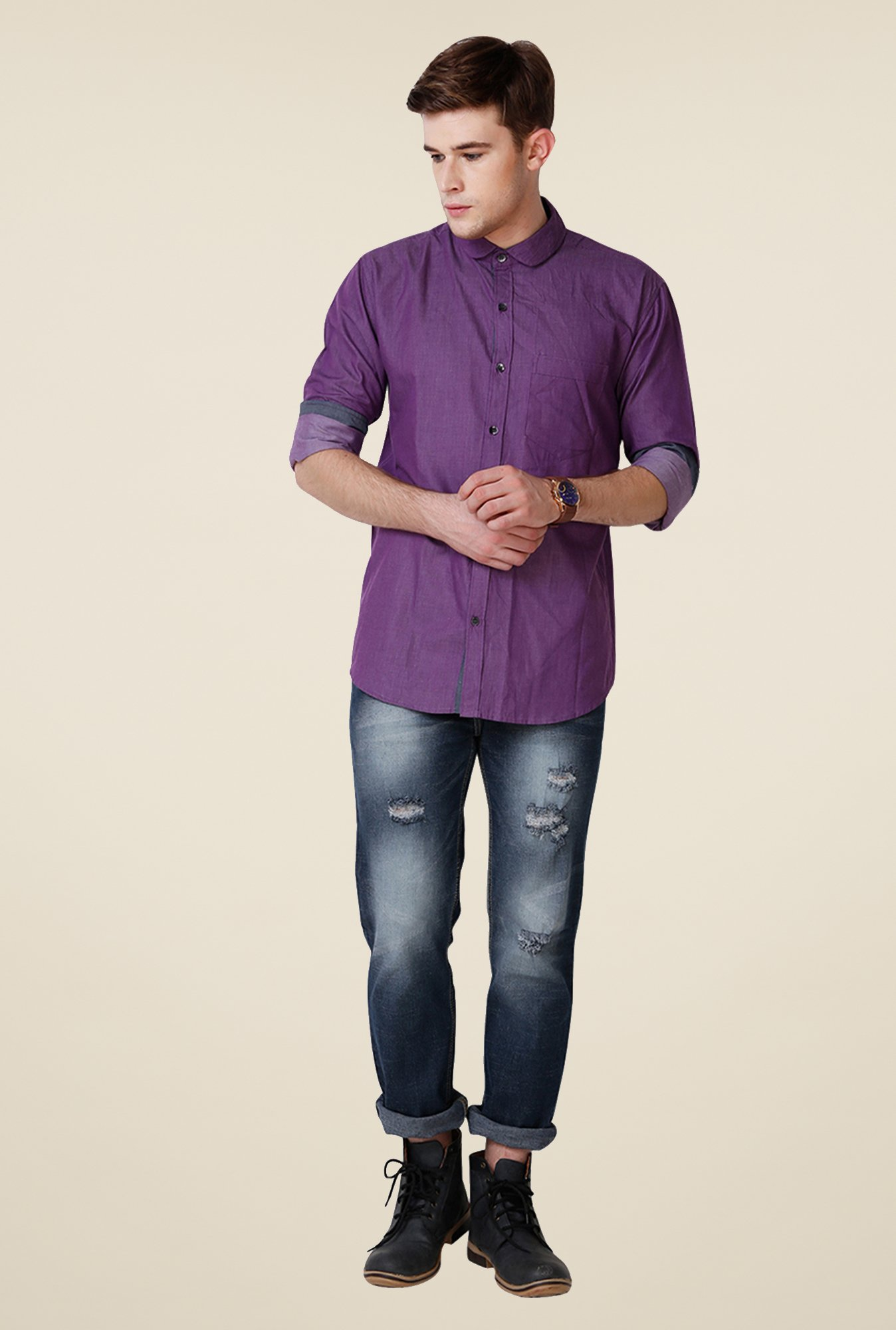 Yepme Purple Walter Premium Shirt