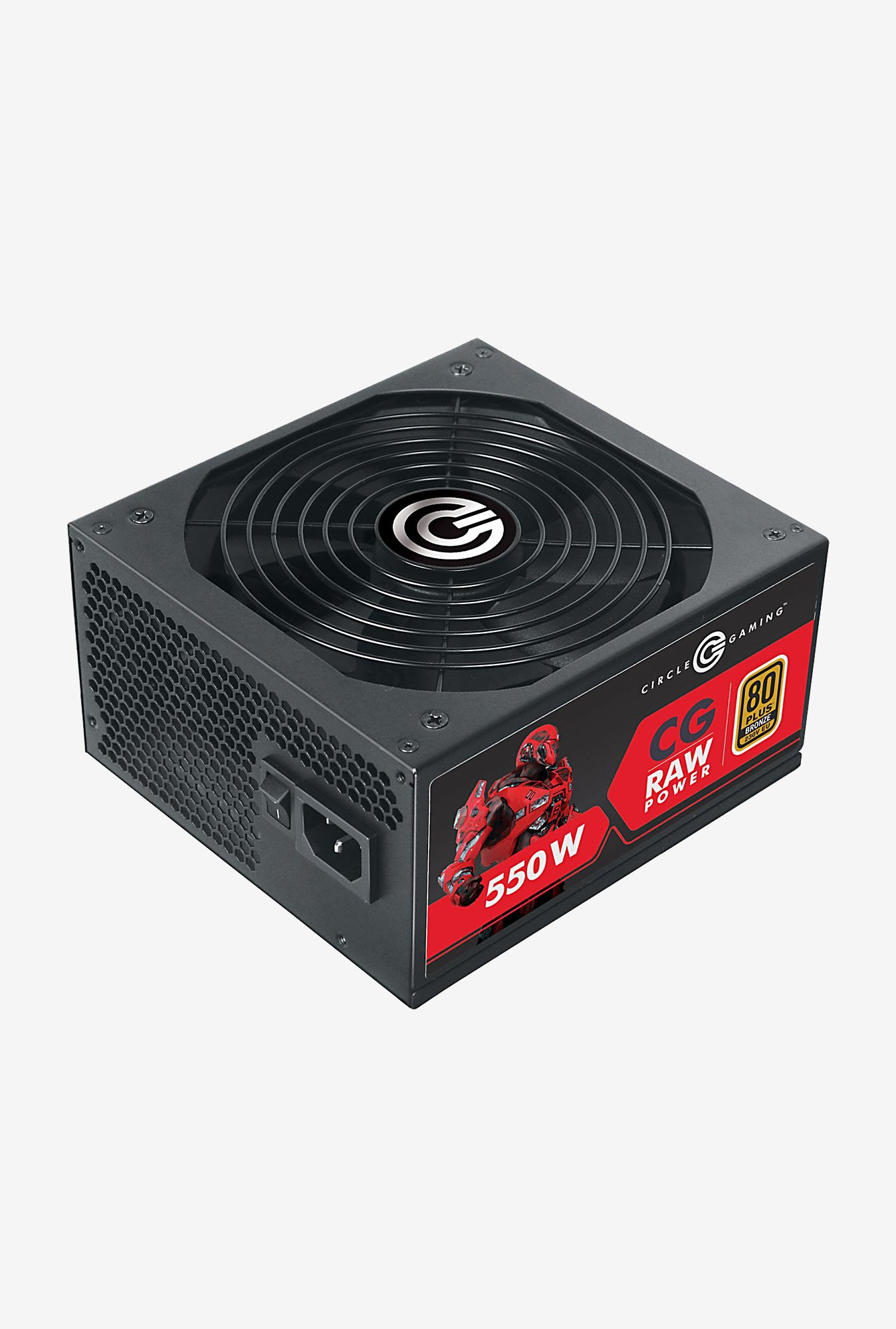 Circle CG Raw Power 550W Modular 80 Plus Bronze SMPS (Black)