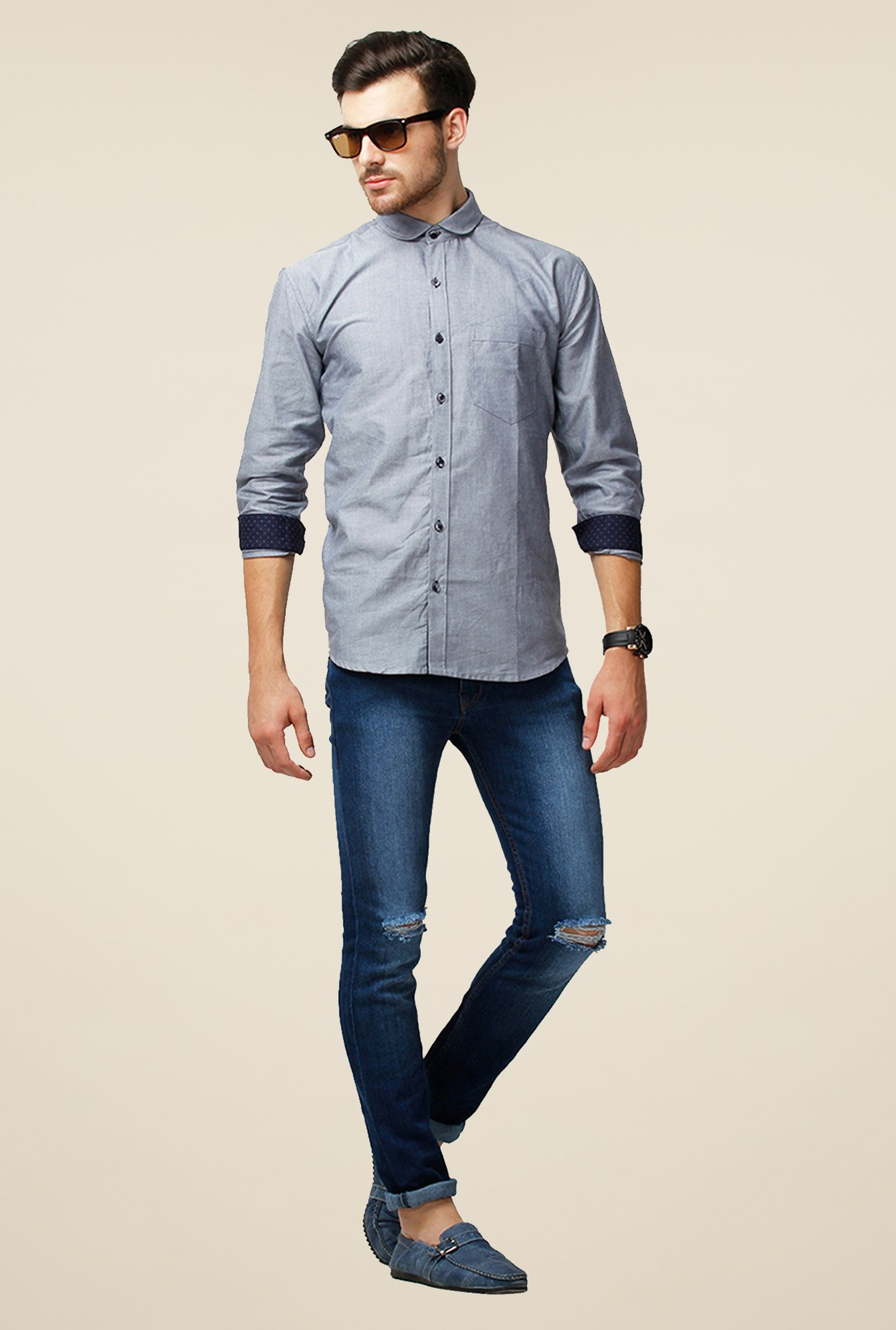 Yepme Grey Brokovich Premium Shirt