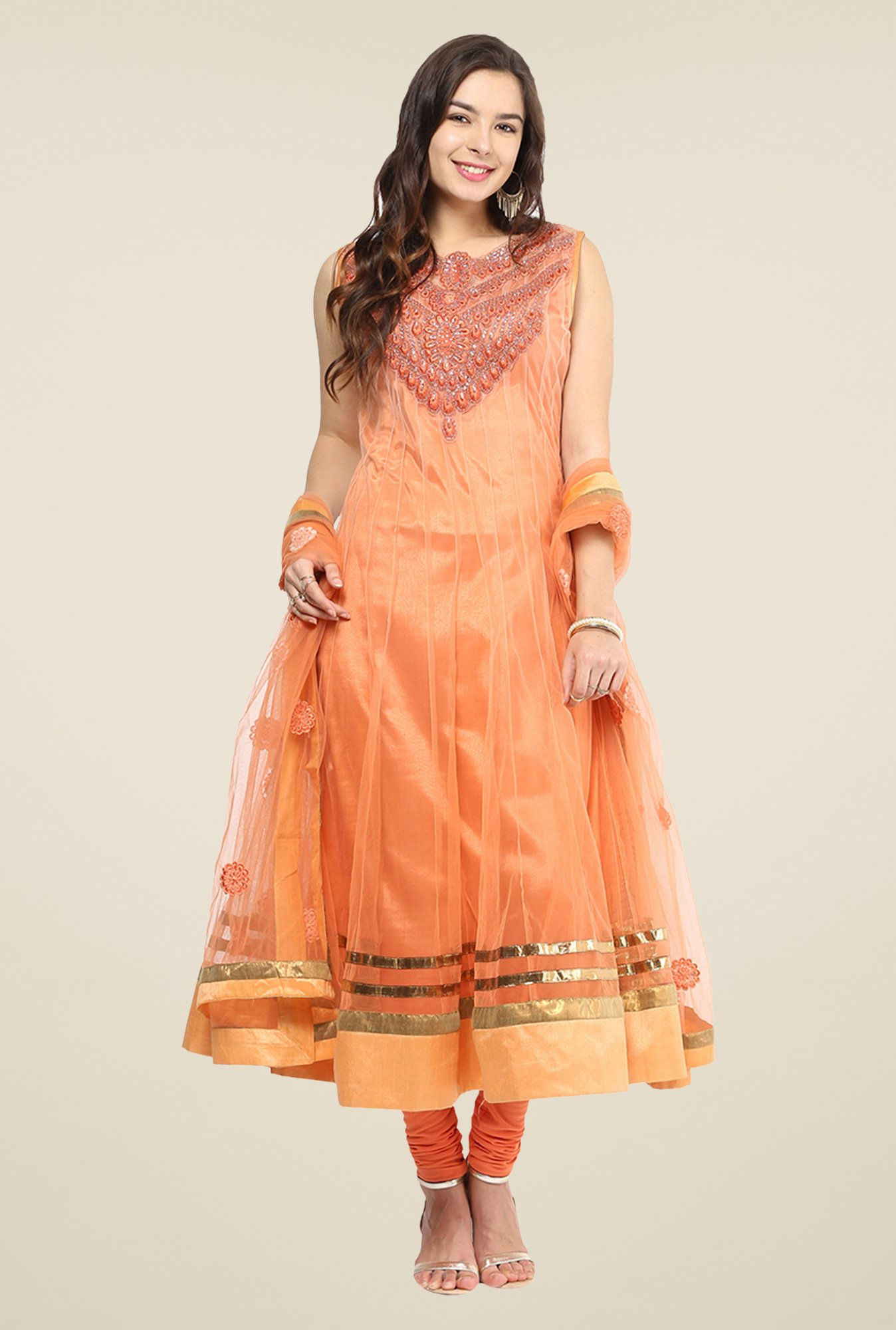 Yepme Mealany Peach Salwar Suit Set