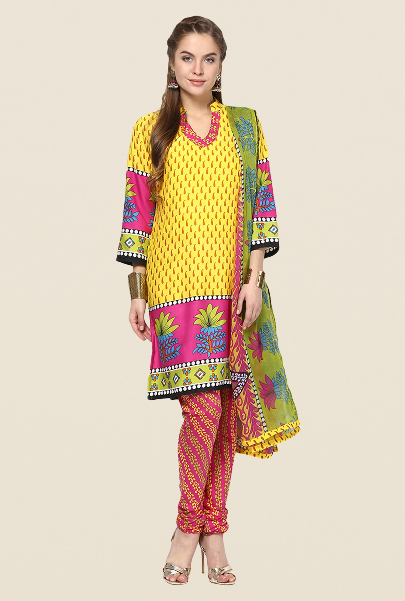 Yepme Yellow Priska Salwar Suit Set