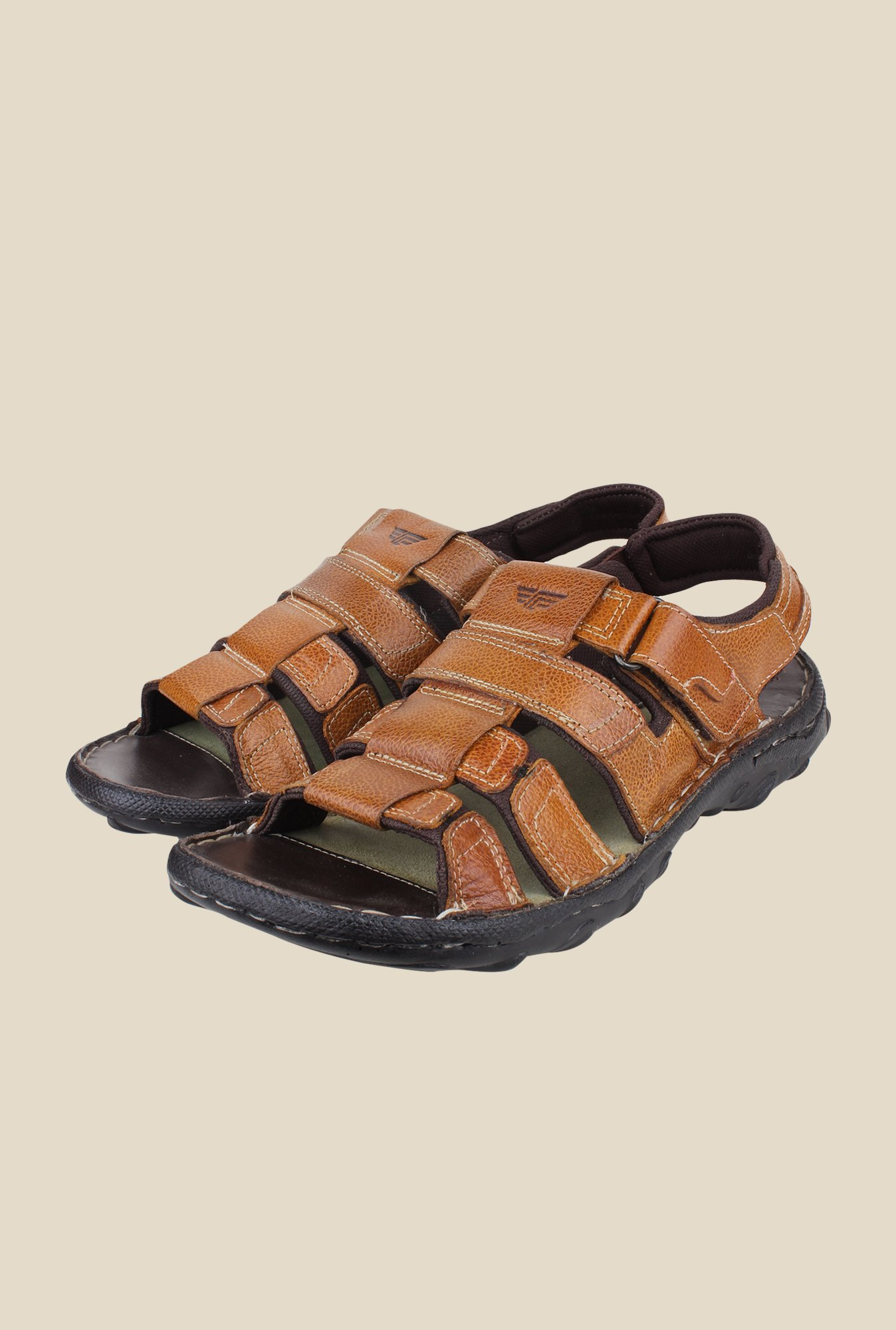 Red Tape Tan Fisherman Sandals