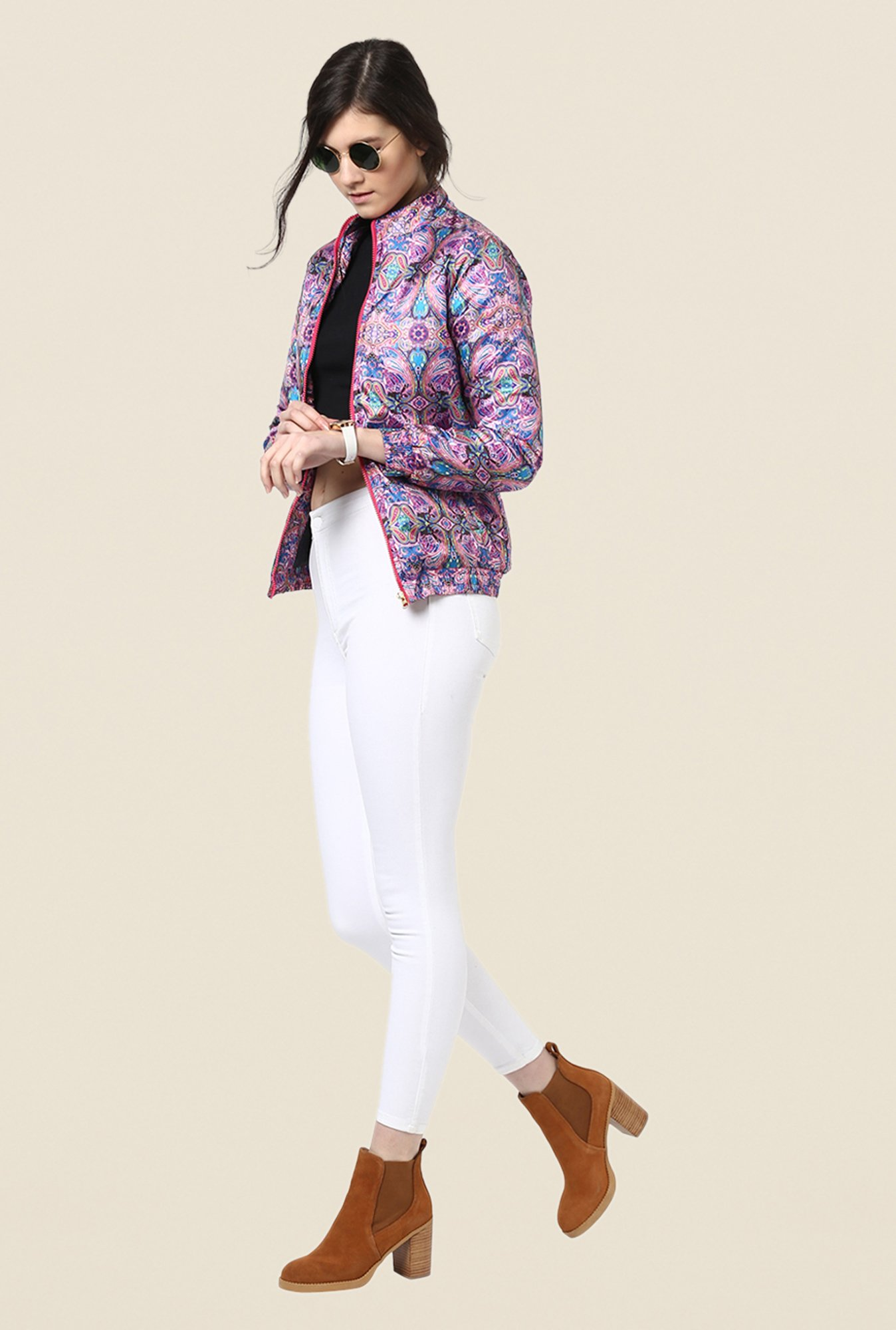 Yepme Multicolor Amyra Full-sleeved Jacket