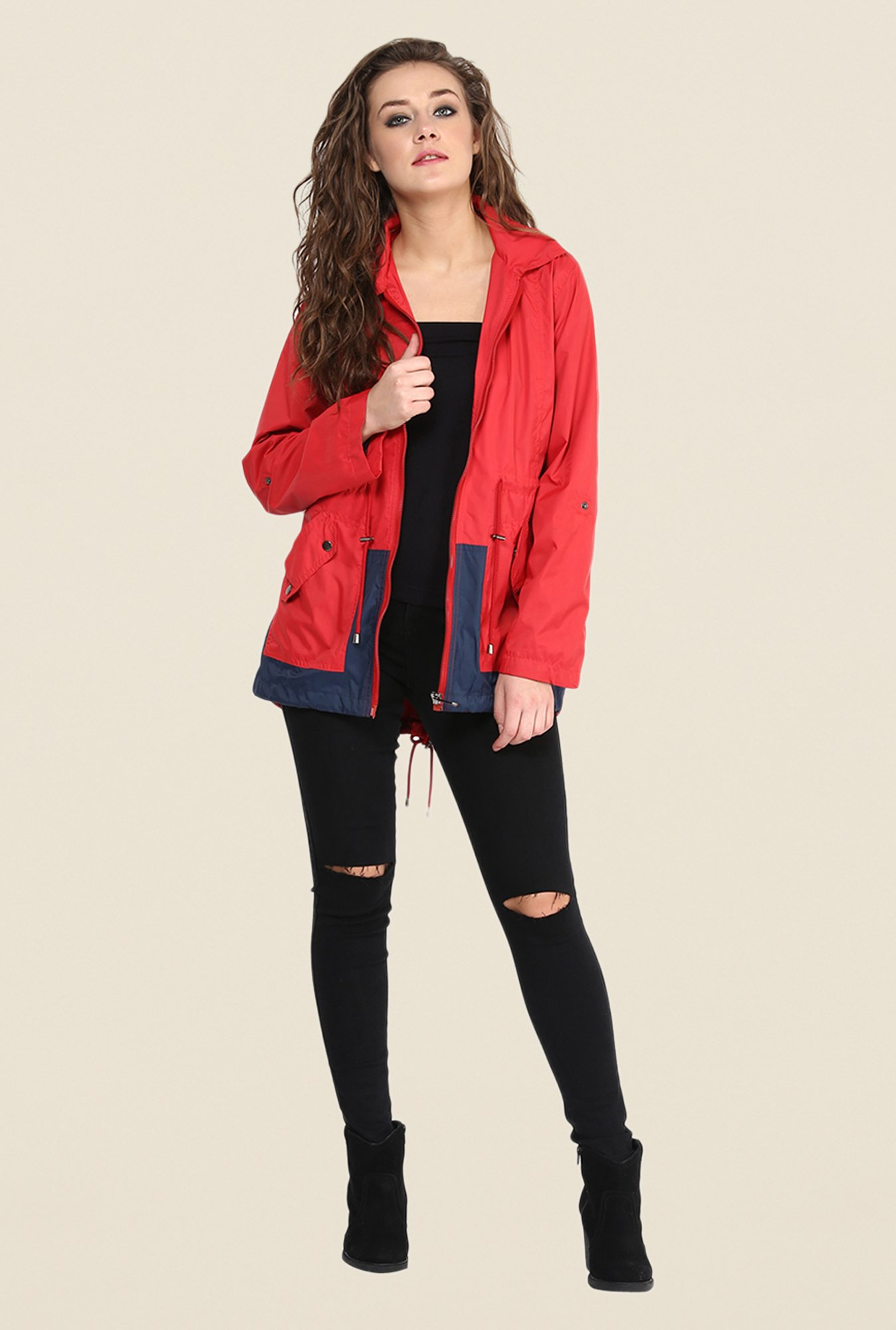 Yepme Red Jullian Long Jacket