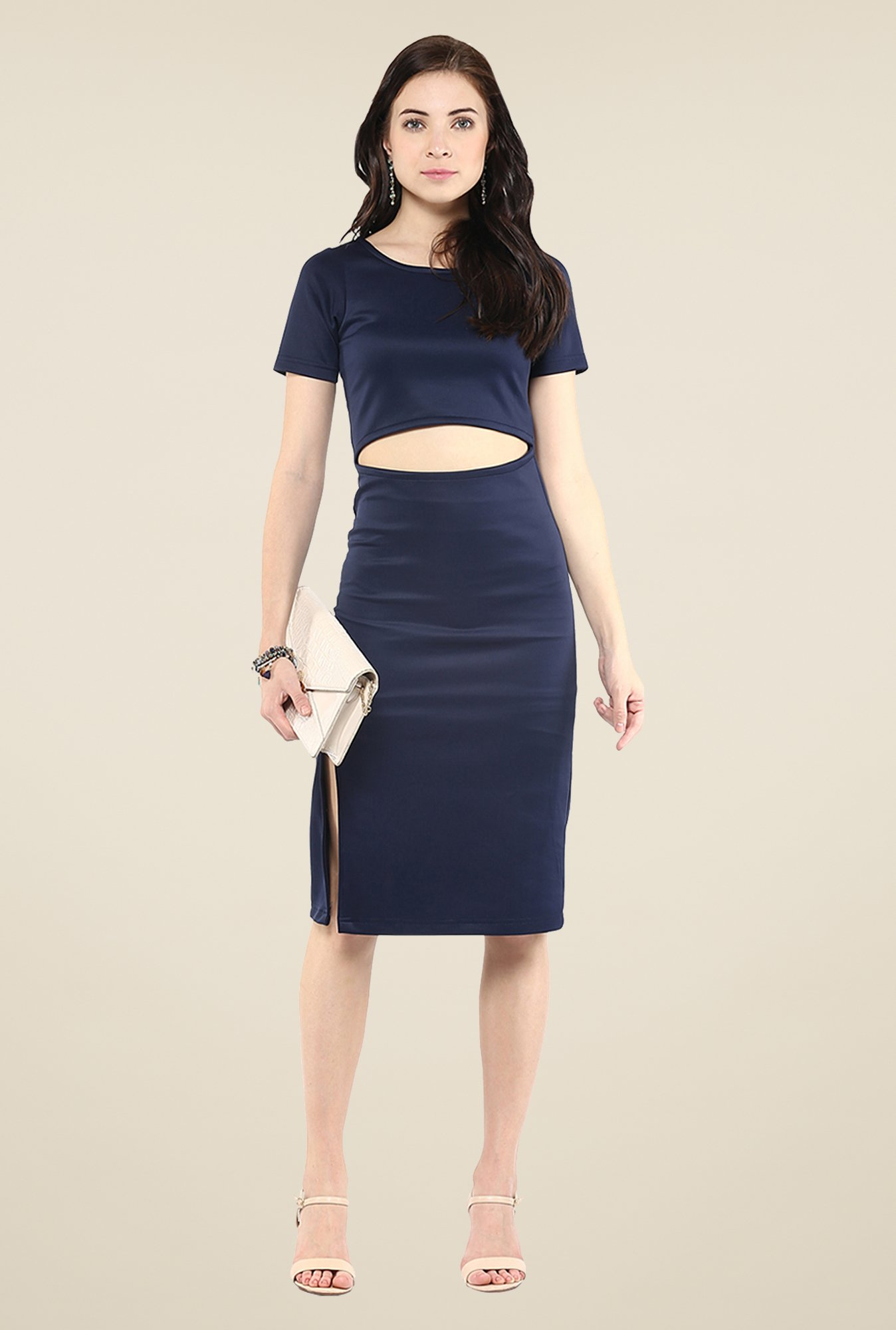 Yepme Marina Navy Bodycon Dress