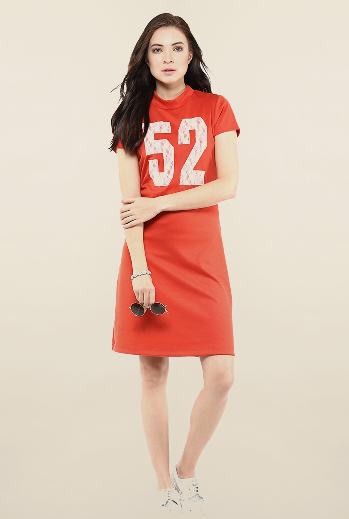 Yepme Orange T-shirt Style Dress