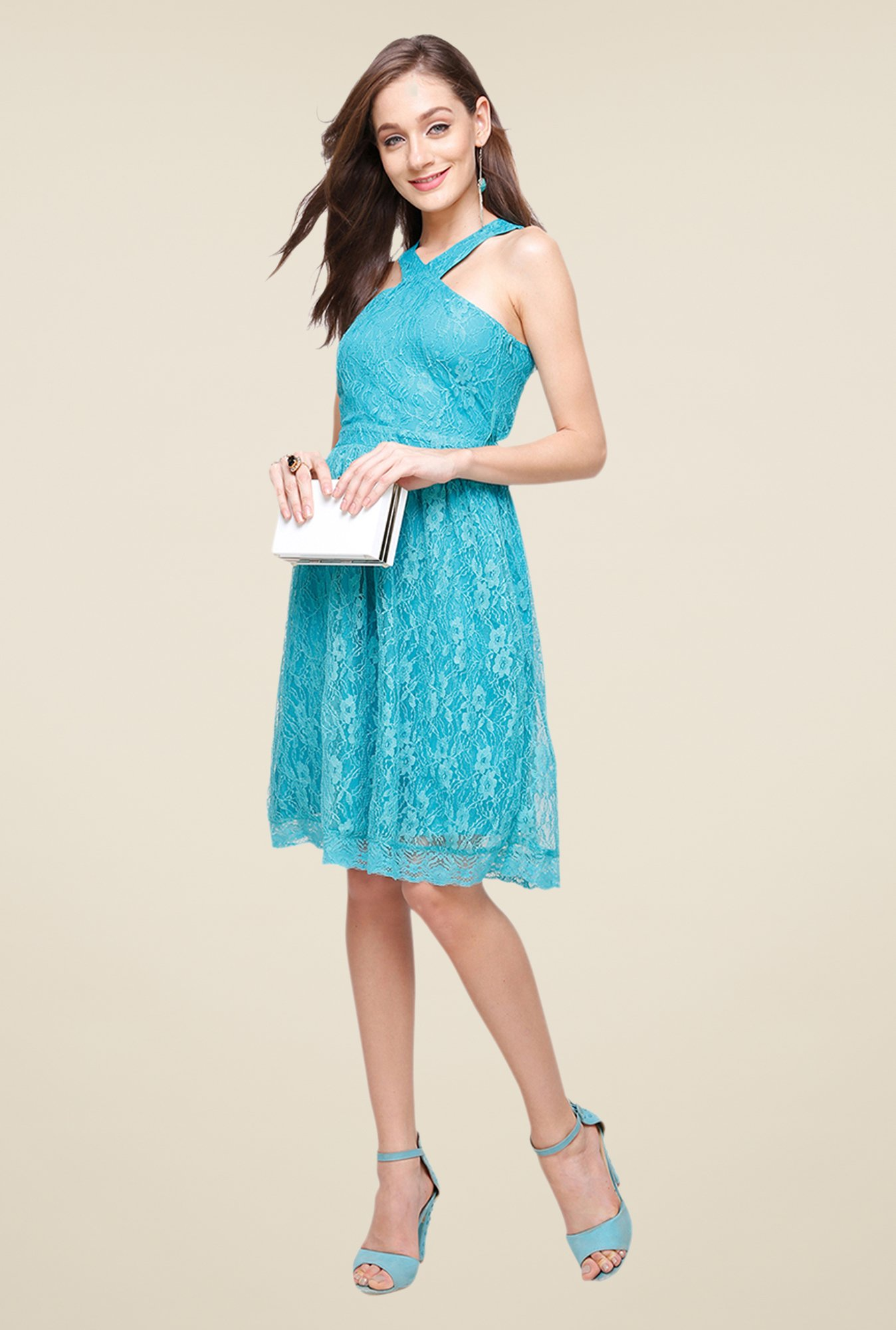 Yepme Kylie Blue Lace Dress