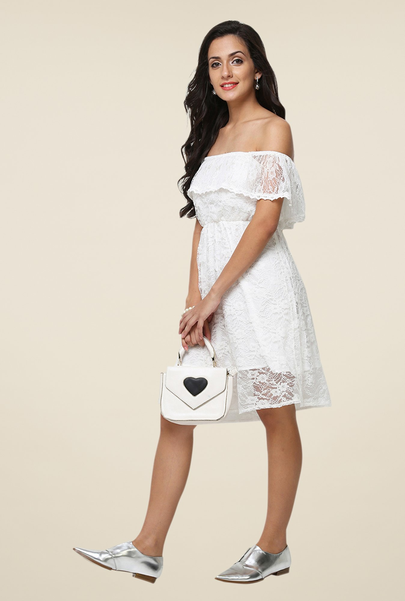 Yepme June White Lace Dress