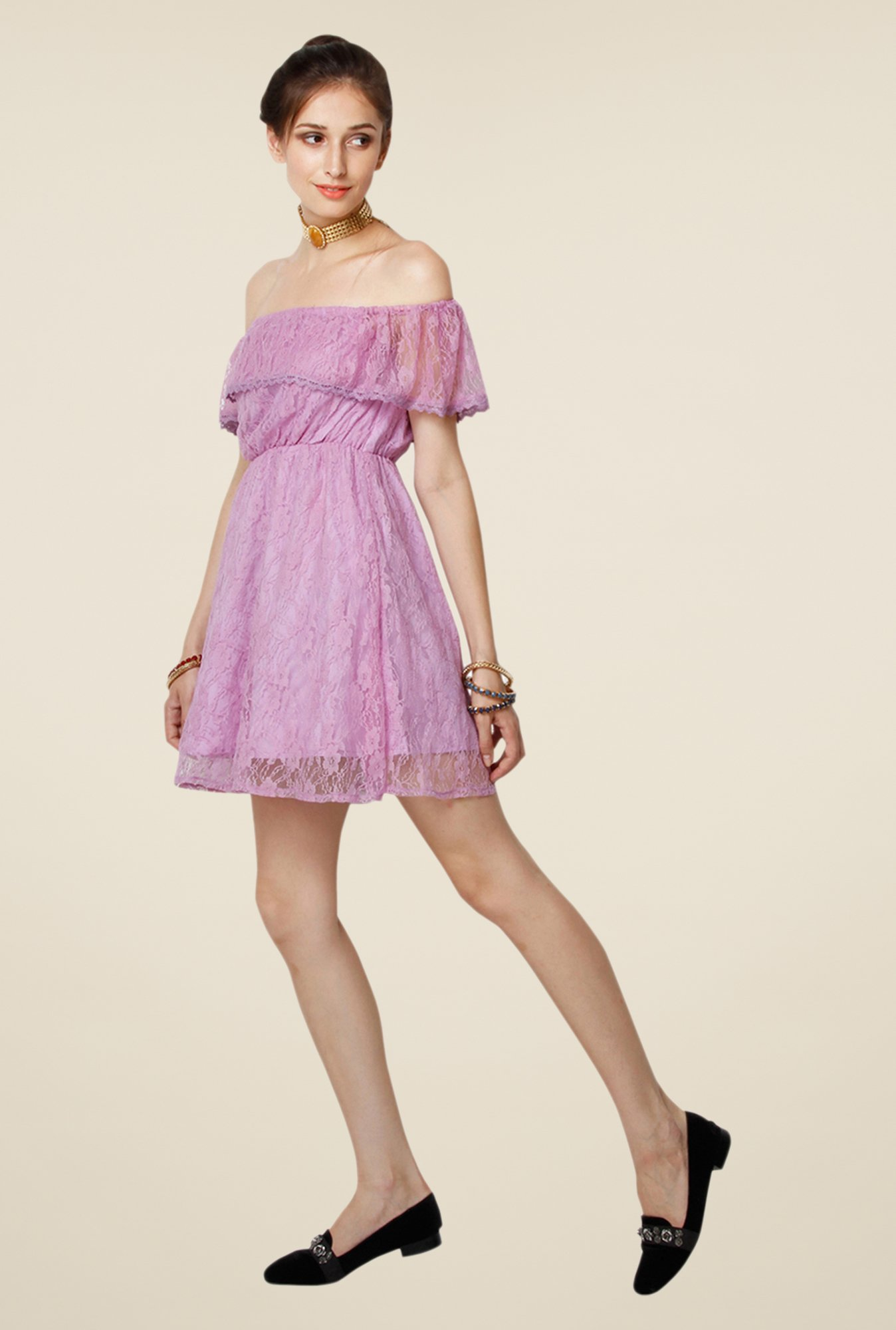 Yepme June Lavender Lace Dress