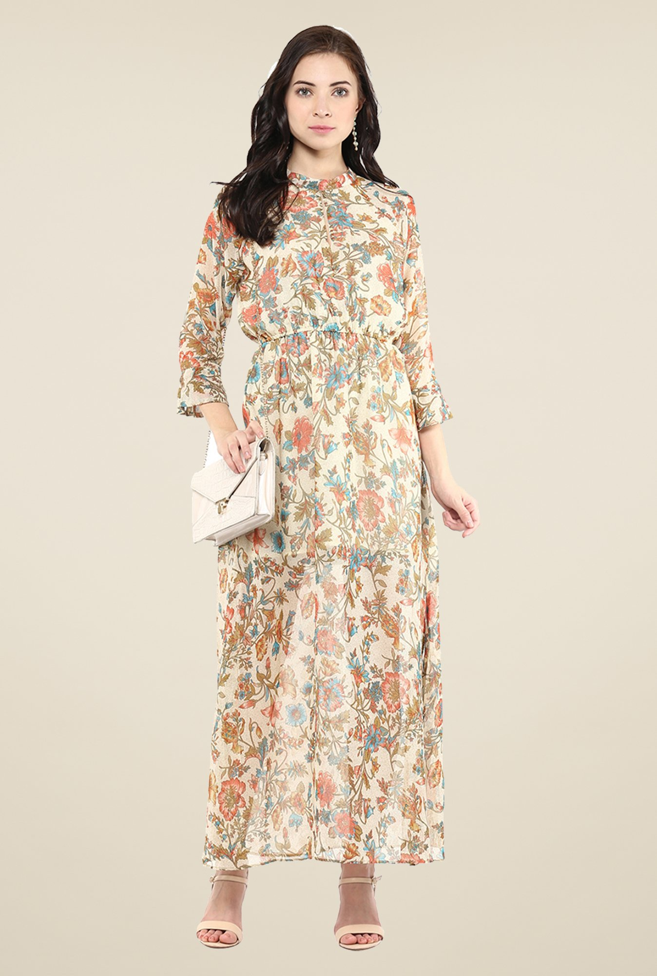 Yepme Carlene Beige Maxi Dress