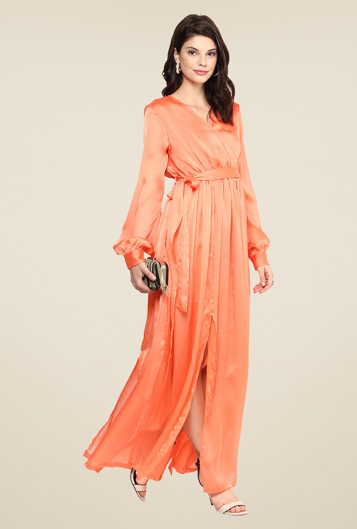 Yepme Wendy Coral Maxi Dress
