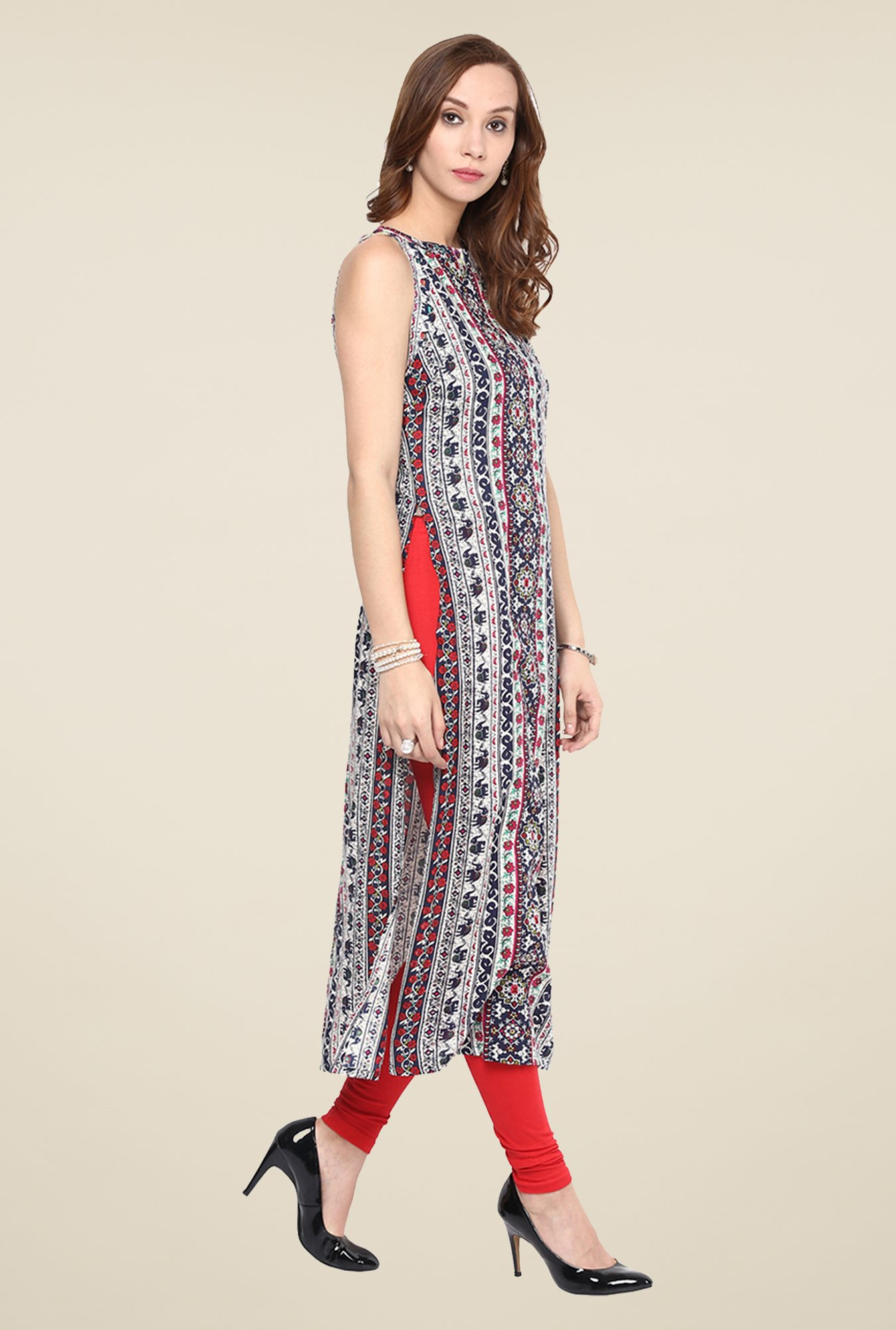 Yepme Black Long Printed Kurti